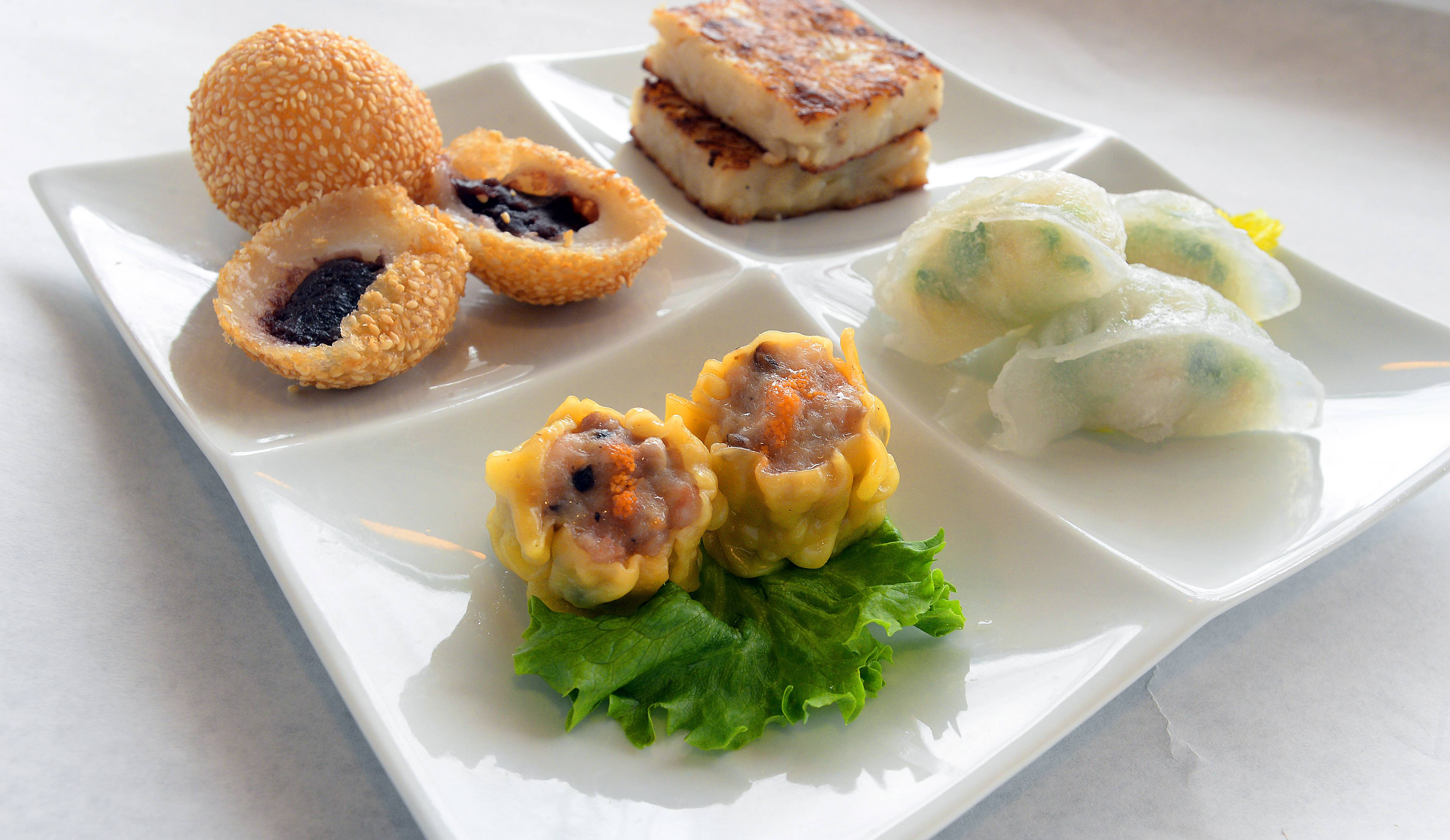 Bistro Chen's dim sum sampler offers the chance to taste a few dishes.