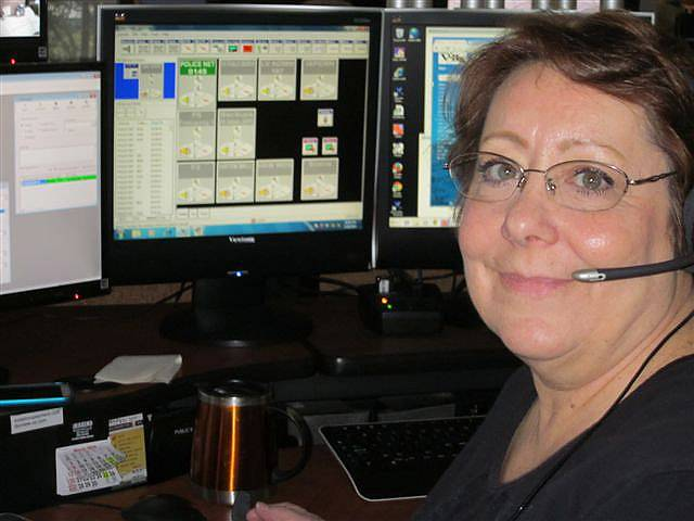 Fran Morris retired Friday after 26 years of working as a dispatcher in Vernon Hills.