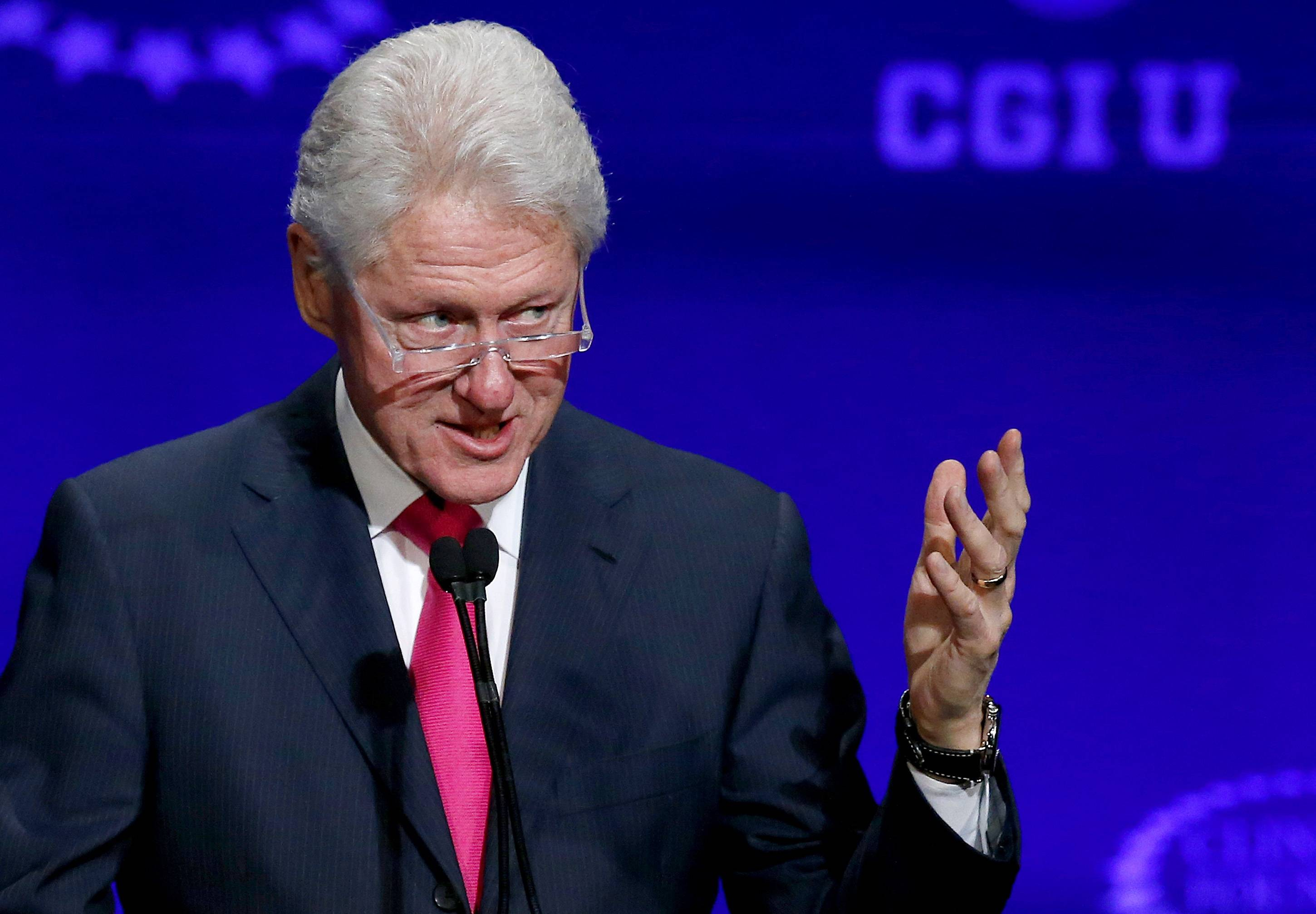 Ex-president Bill Clinton speaks at a student conference for the Clinton Global Initiative University at Arizona State University, in this file photo.