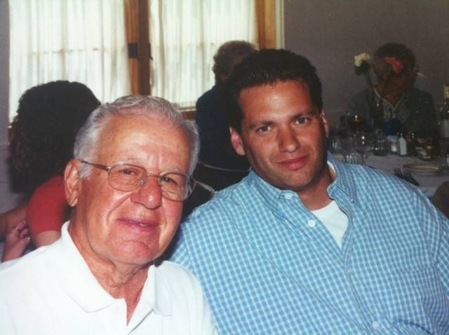 Tom Karambelas, right, with his father, Pete.
