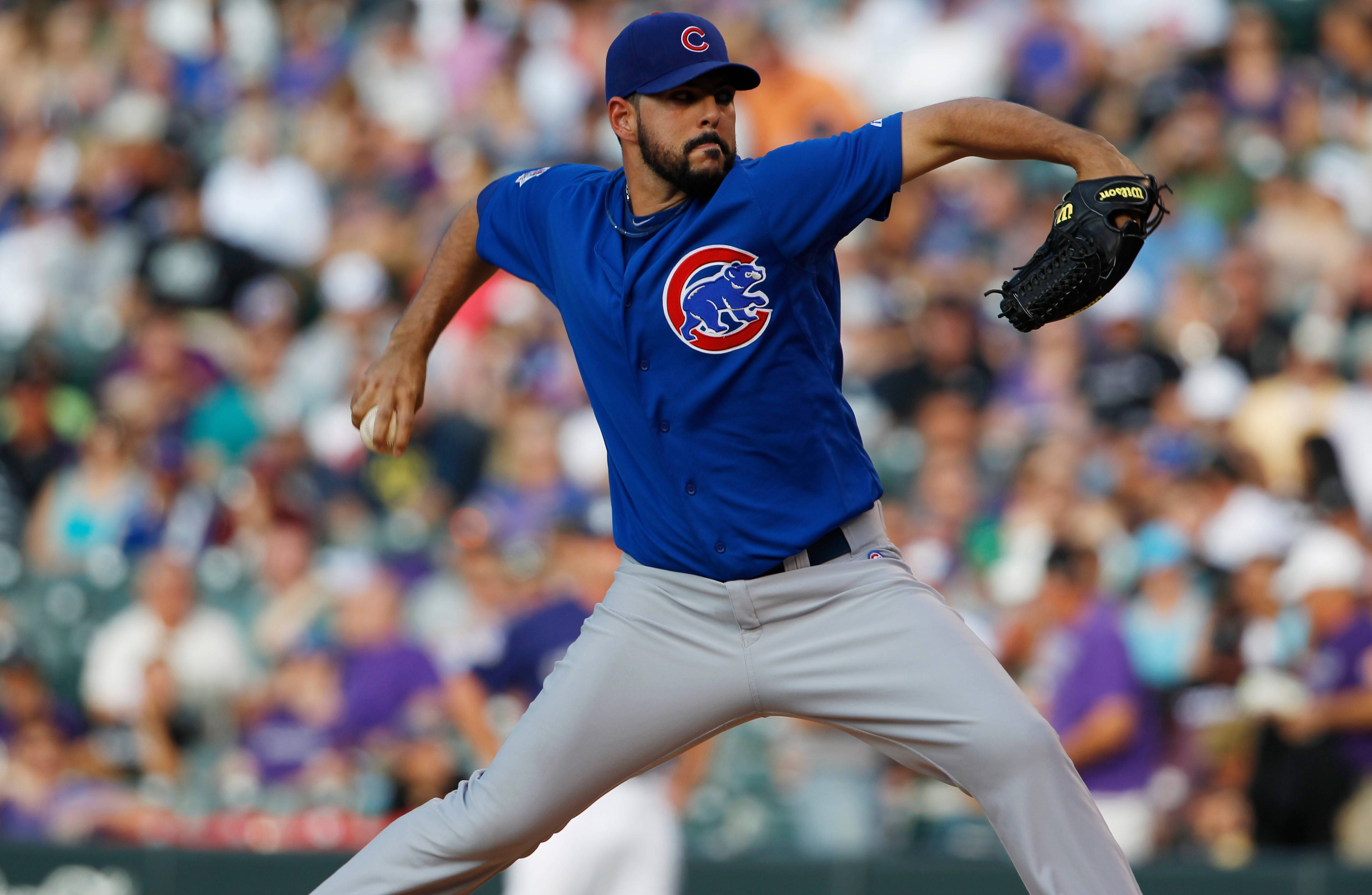 Cubs starting pitcher Carlos Villanueva won the job as the team's fifth starter. How long that lasts is anyone's guess because Villanueva is also a valuable asset in the bullpen.