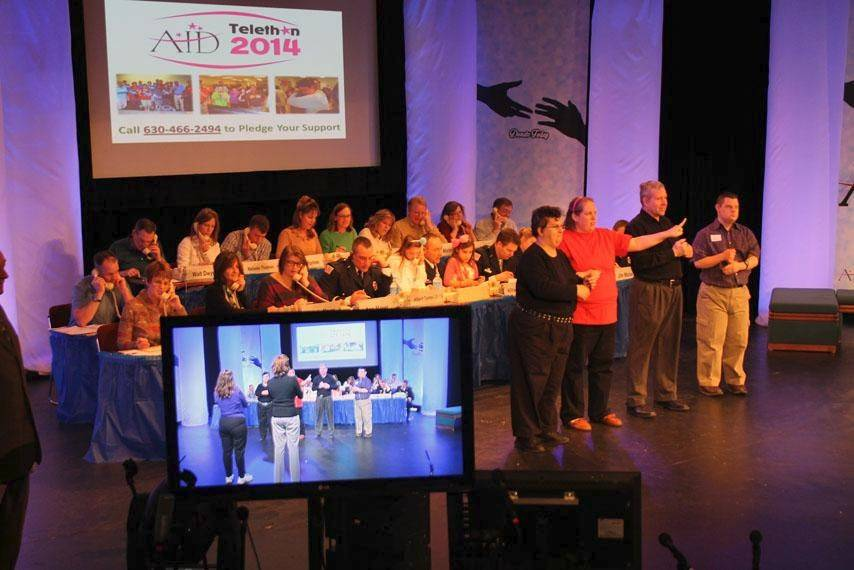 The Association for Individual Development broadcasts its annual telethon to more than 30 television stations around the Fox Valley area, as well as streaming on its website.