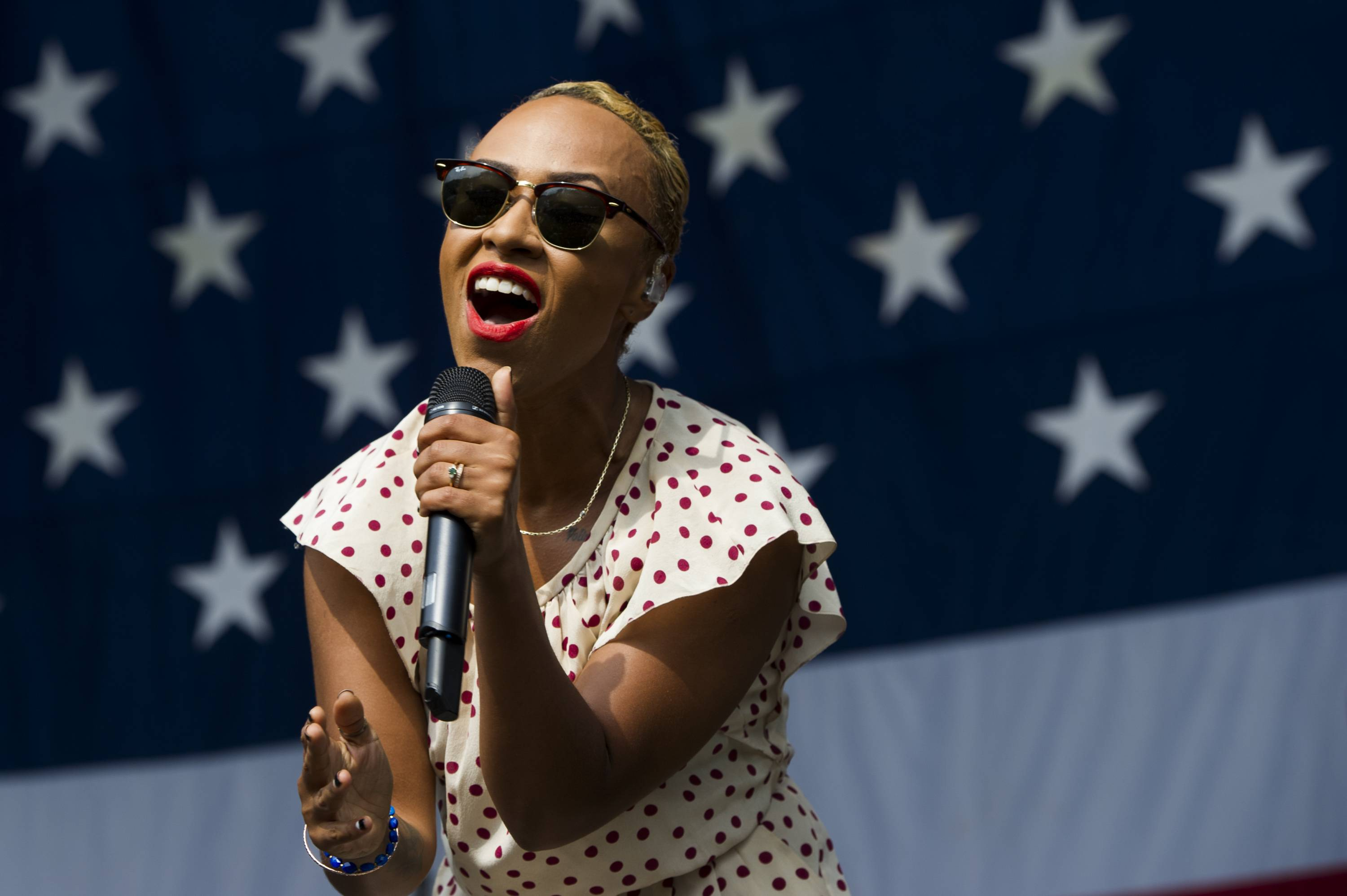 "Emeli Sande performing at the 2013 Budweiser Made in America Festival in Philadelphia. Sande covers Elton John's ""All The Girls Love Alice,"" on the 40th anniversary edition of the 1973 album, ""Goodbye Yellow Brick Road."""