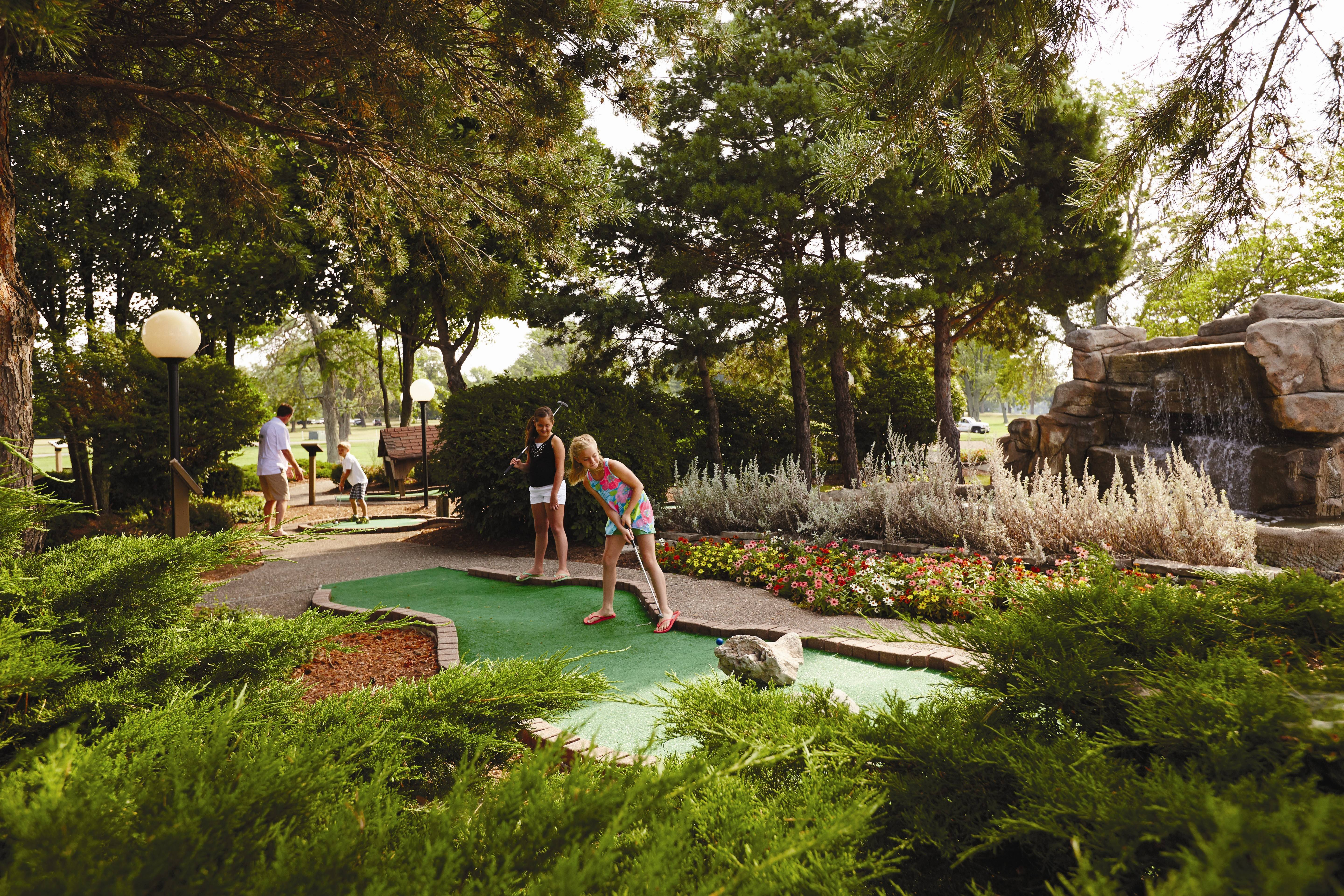 There's lots of family activity inside and out, including mini-golf, when you book a Spring Break Package at Lake Lawn Resort in Delavan, Wis., through April 30.
