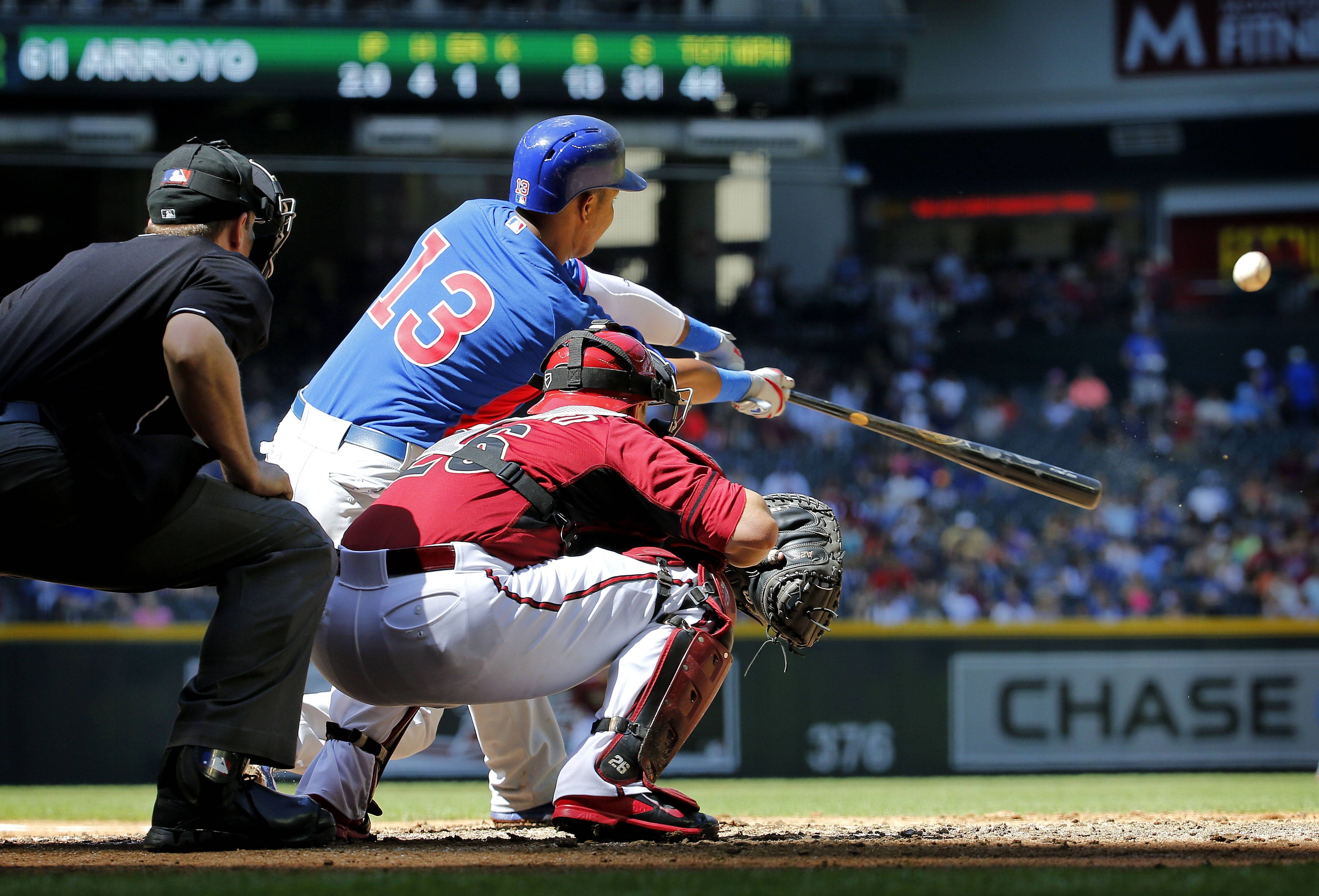 The Cubs' Starlin Castro made only his third Cactus League appearance and first since the opening week of the exhibition season Saturday against the Diamondbacks in Phoenix. Castro was 0-for-2 with a walk.
