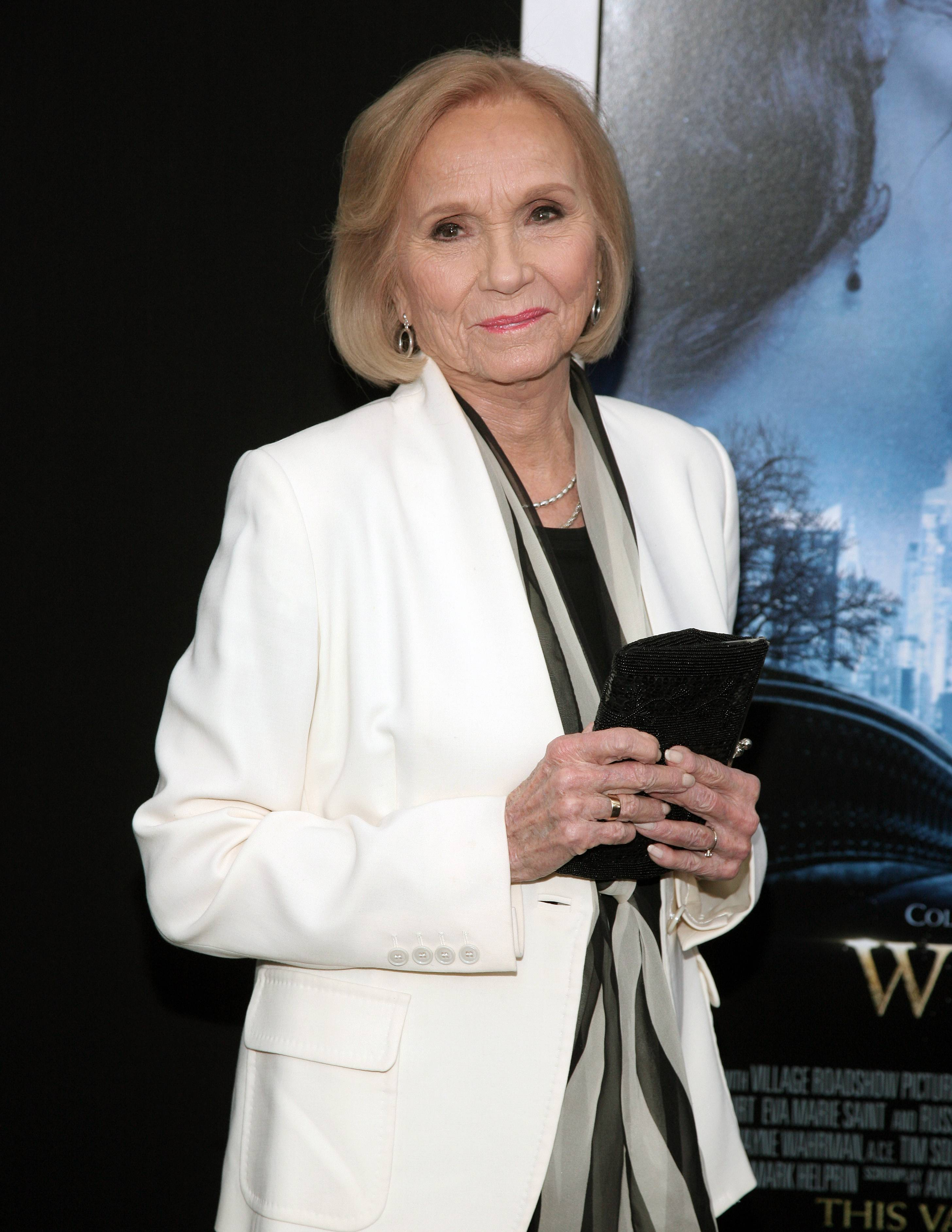 "Actress Eva Marie Saint attends the world premiere of ""Winter's Tale"" in New York. The Oscar-winning actress of ""On the Waterfront"" and ""North by Northwest"" fame talks about her career in the TCM special airing Monday."