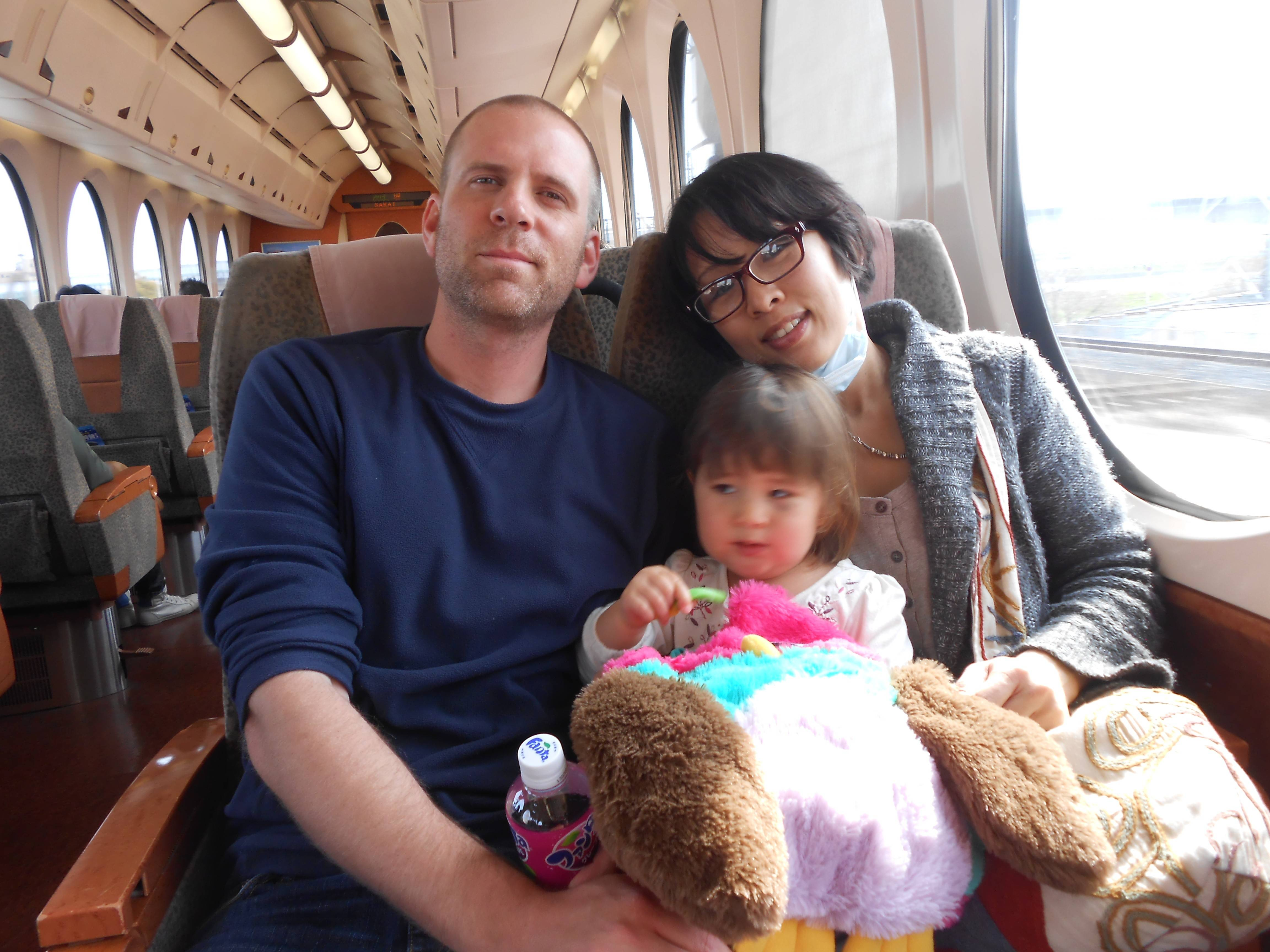 Mike Blodgett, seen here with his wife, Ikuchan, and their daughter, Olivia, is recuperating after he want missing for six days while hiking on Mount Omine in Japan.