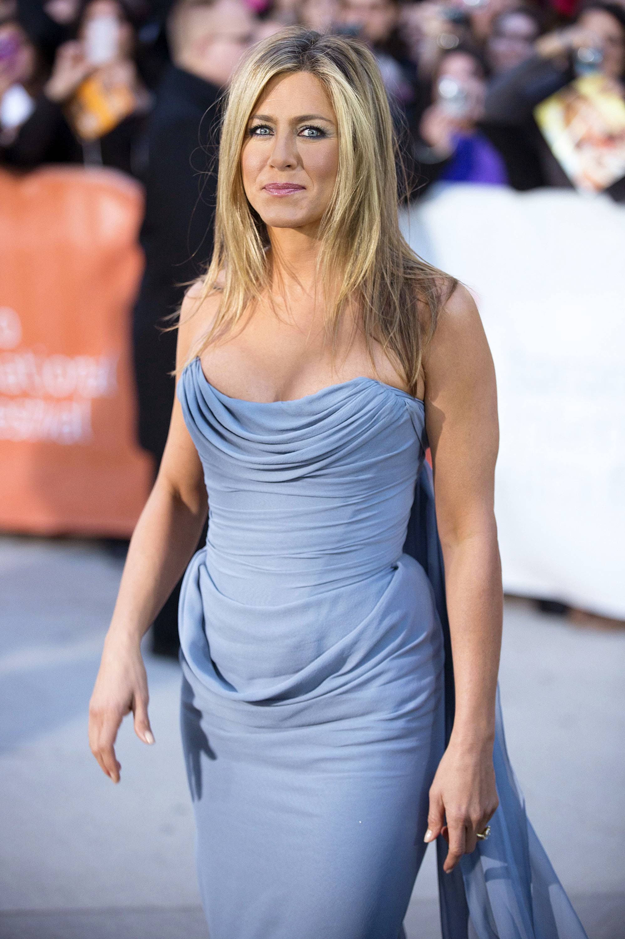 "Actress Jennifer Aniston attends the premiere for ""Life of Crime"" on day 10 of the 2013 Toronto International Film Festival at the Roy Thomson Hall in Toronto."