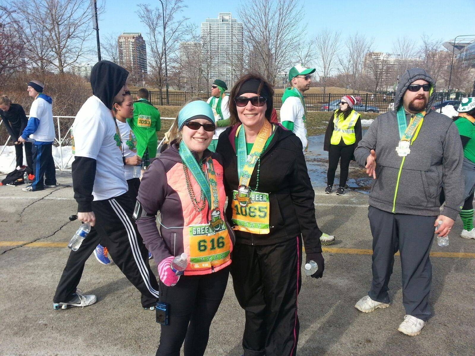 Members of JourneyCare Team Mojo took part in the recent St. Paddy's Day run/walk.