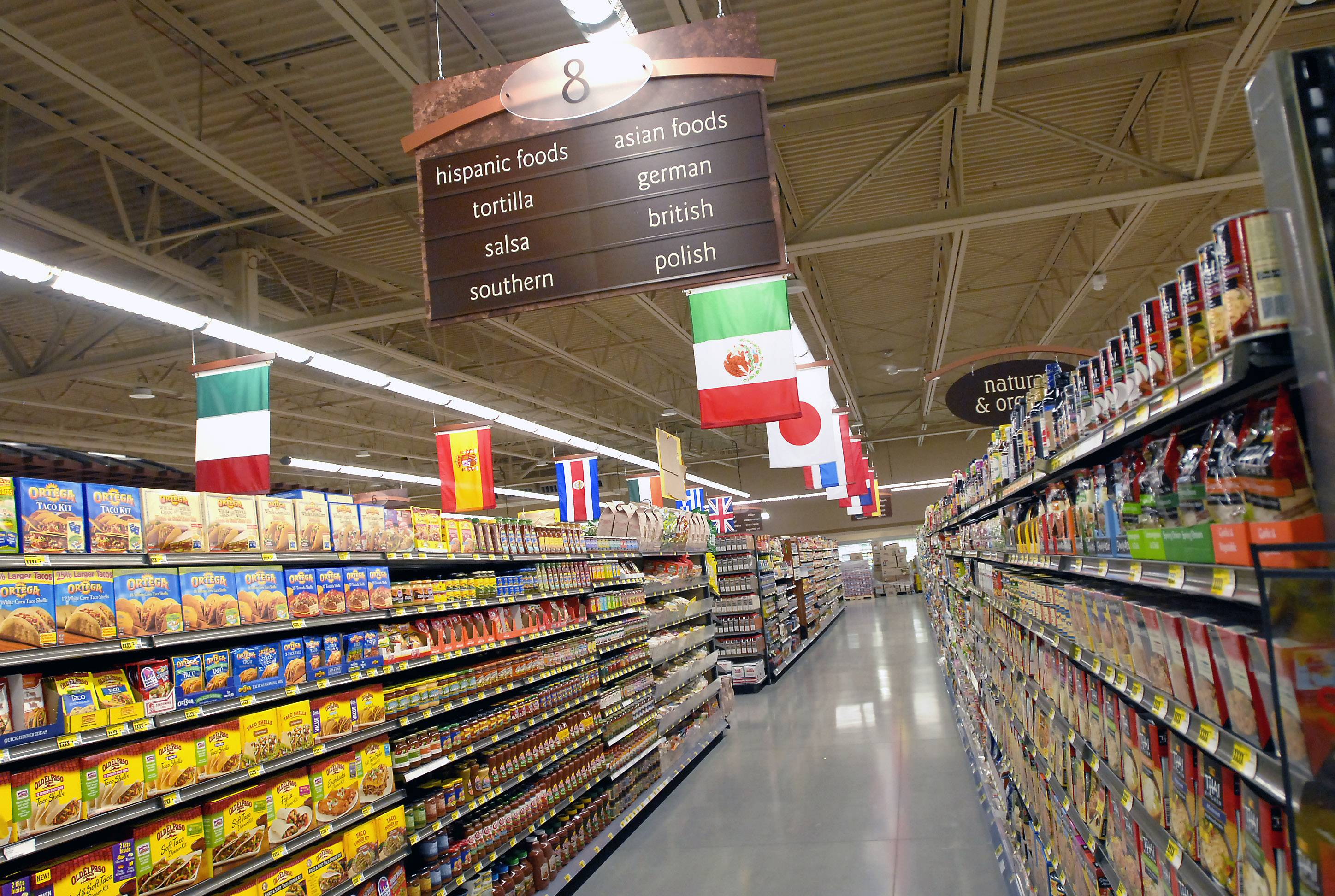 One of the international food aisles at Mariano's Fresh Market on Northwest Highway in Arlington Heights that opened in July 2010 in this file photo.