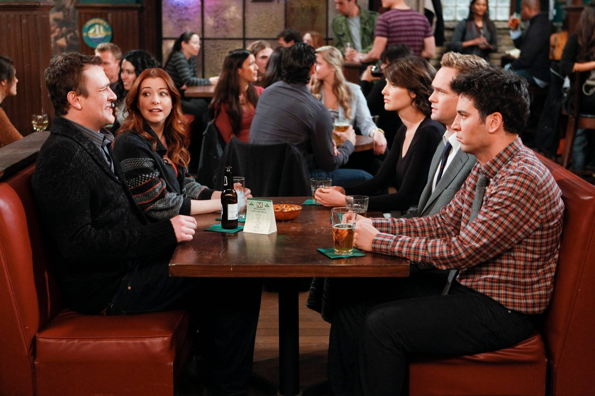 "Jason Segel, Alyson Hannigan, Cobie Smulders, Neil Patrick Harris and Josh Radnor share their lives in ""How I Met Your Mother."" The series opened with kids on a couch impatiently listening to narrator Bob Saget, as Ted circa 2030, explains how their parents met."