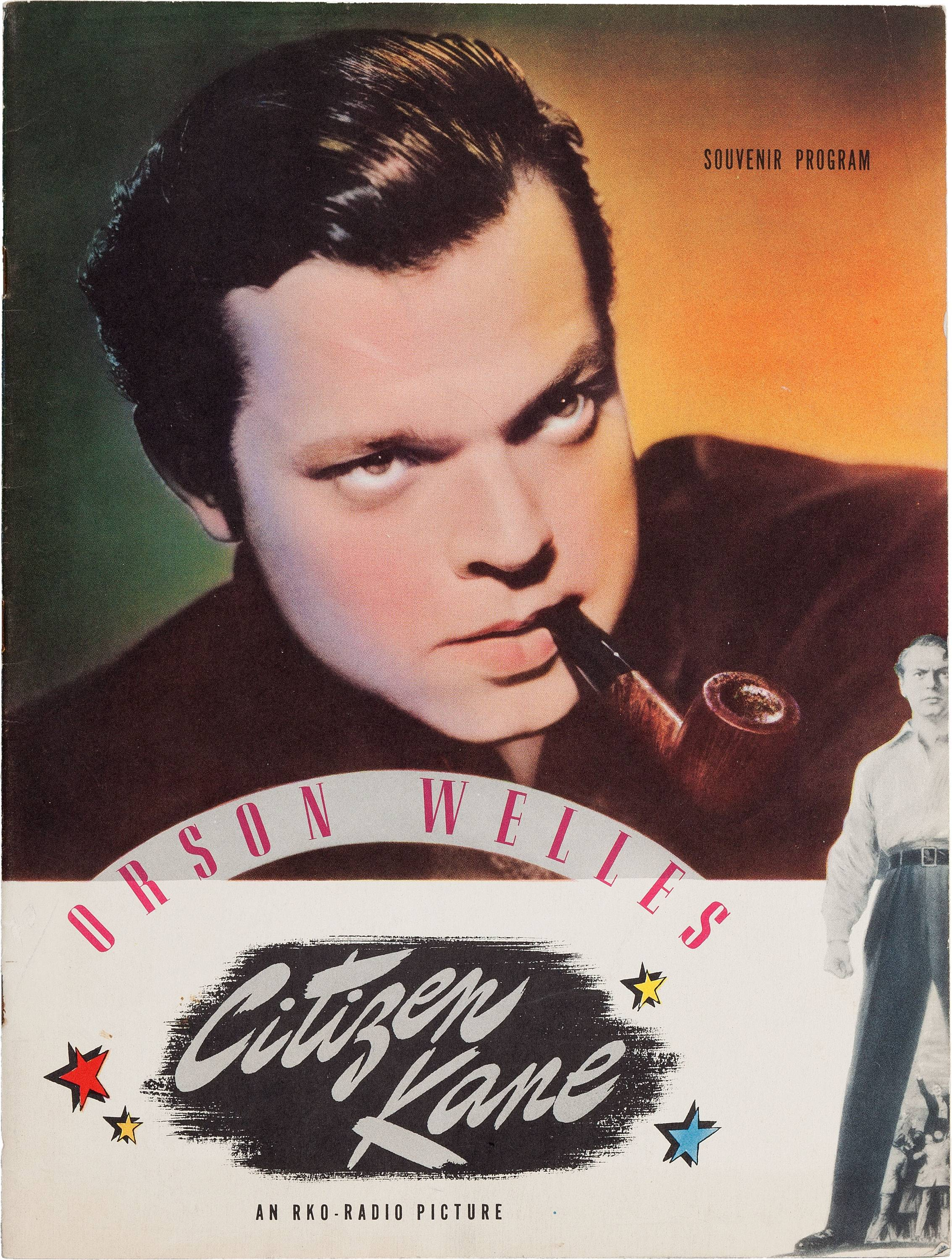 "This is Orson Welles' personal copy of a souvenir program from his classic 1941 film, ""Citizen Kane,"" which is among the legendary actor, director and scriptwriter's items consigned by his daughter, Beatrice Welles, that will be offered in auction in New York City on April 26."