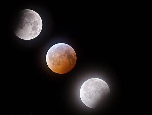 A lunar eclipse, when the moon drops behind the Earth's shadow and glows red, copper or even dark gray, can happen two times a year. The next eclipse can be viewed Tuesday, April 15.