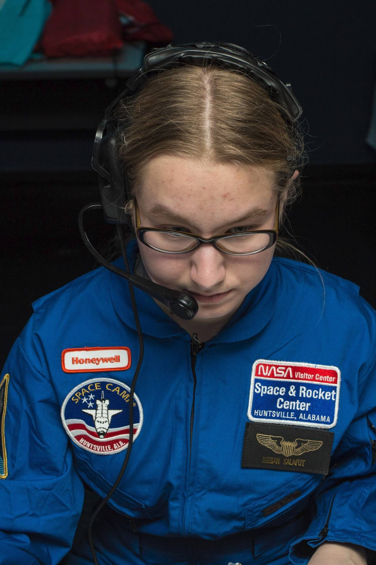 Megan Kalafut of Lake Zurich is at the Honeywell Leadership Challenge Academy at the U.S. Space & Rocket Center in Huntsville, Ala.