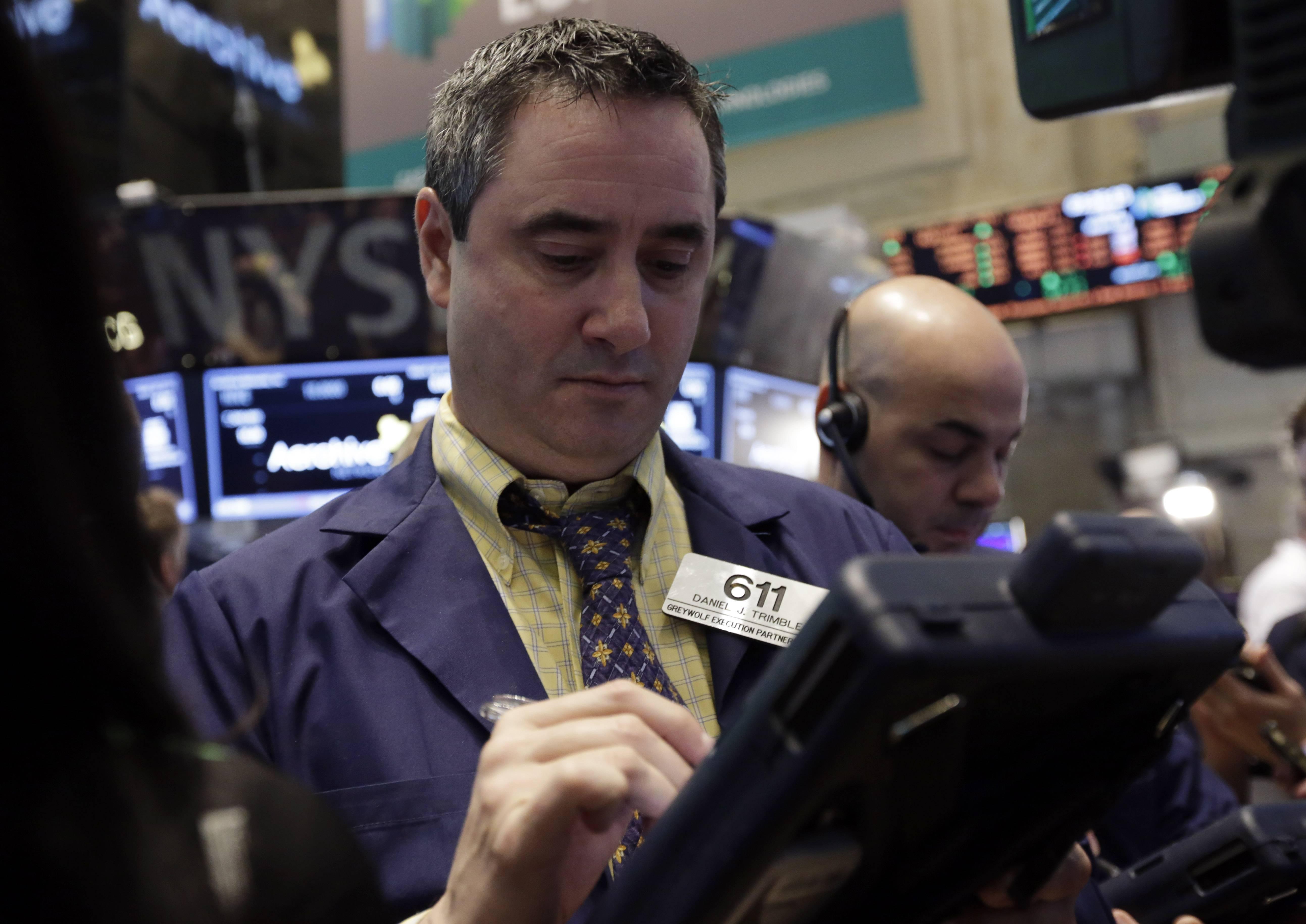 U.S. stocks rose Tuesday, as consumer and technology shares pushed the Standard & Poor's 500 Index to an all-time high, after an increase in a manufacturing index boosted optimism the economy withstood severe winter weather.