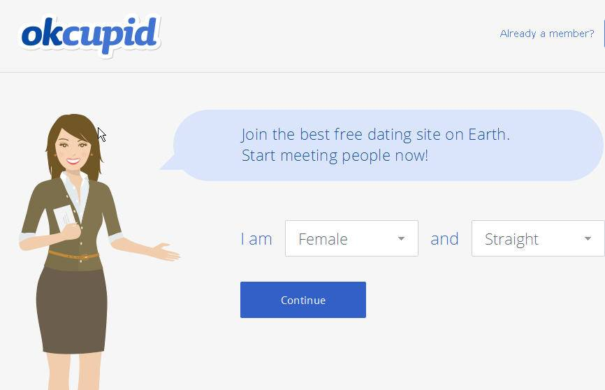 "On Monday, New York-based dating service okcupid.com  replaced its usual home page for users logging in with Frefox. ""Hello there, Mozilla Firefox user. Pardon this interruption of your OkCupid experience. """