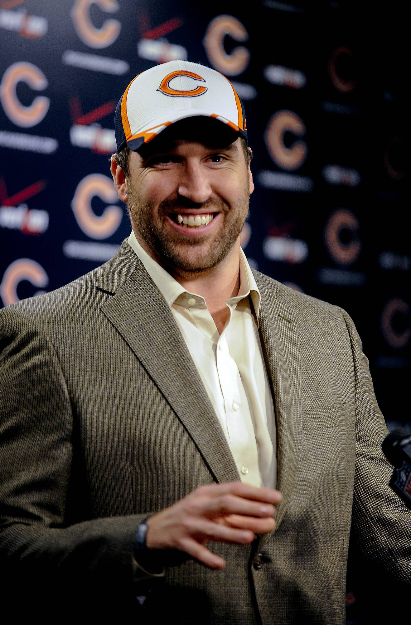 "Defensive end Jared Allen ""adds experience, production and leadership"" to the Bears' defense, says GM Phil Emery."