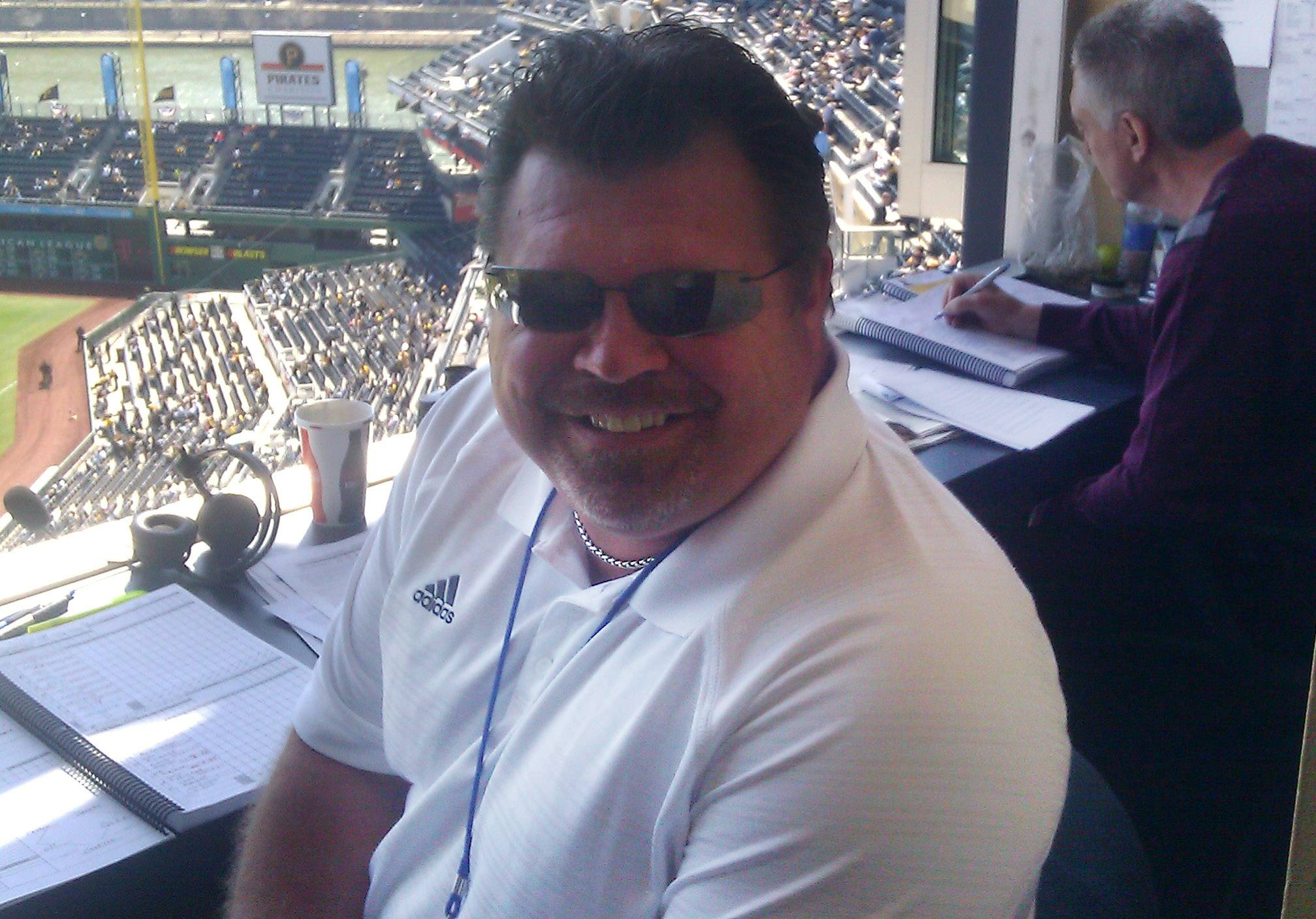 Ron Coomer, the new color analyst for Cubs radio broadcasts.