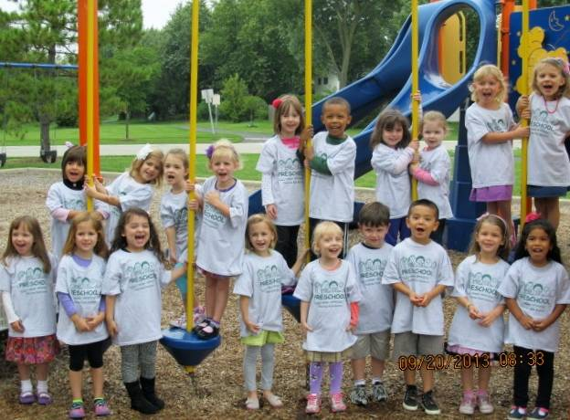 Preschoolers at Maple Park on the playground.Palatine Park District