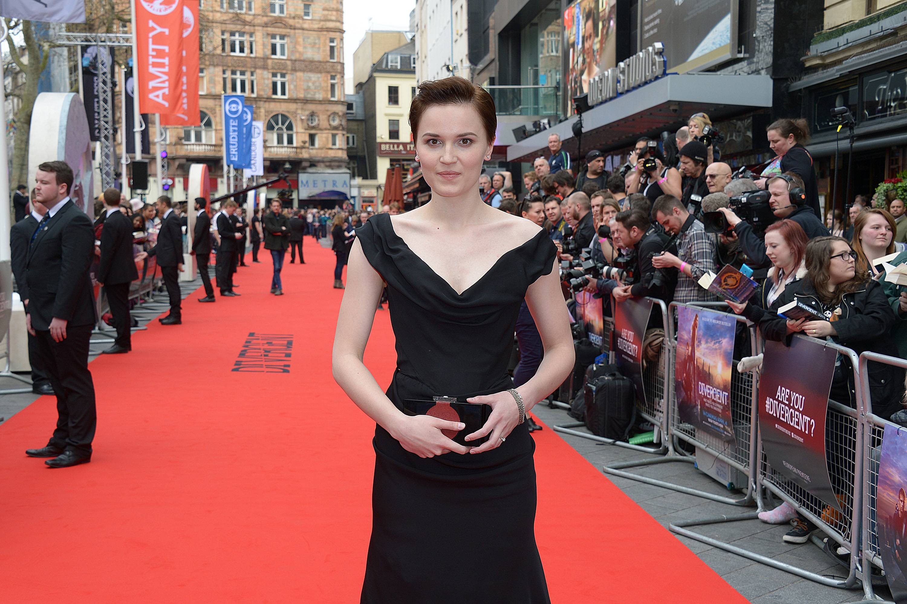 US writer Veronica Roth arrives at the European film premiere of Divergent, in Leicester Square, London, Sunday March 30, 2014. (Photo by Jon Furniss/Invision/AP)