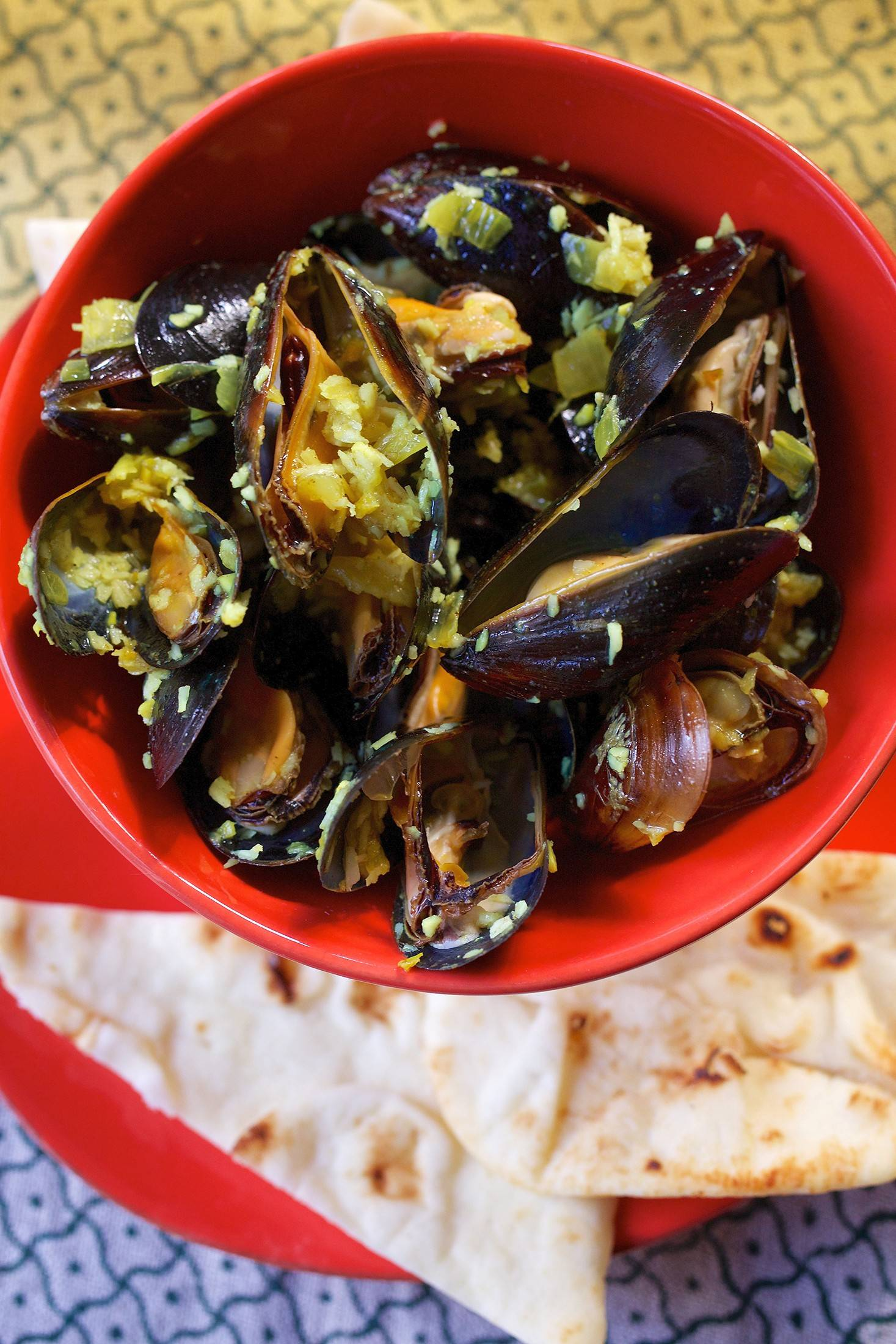 Indian mussels on the table in 35 minutes