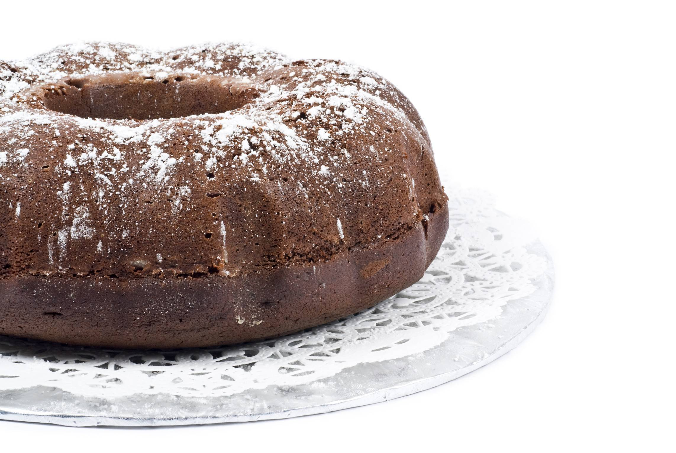 Coconut oil and applesauce improve the nutrition profile of Almond Joy Bundt Cake.