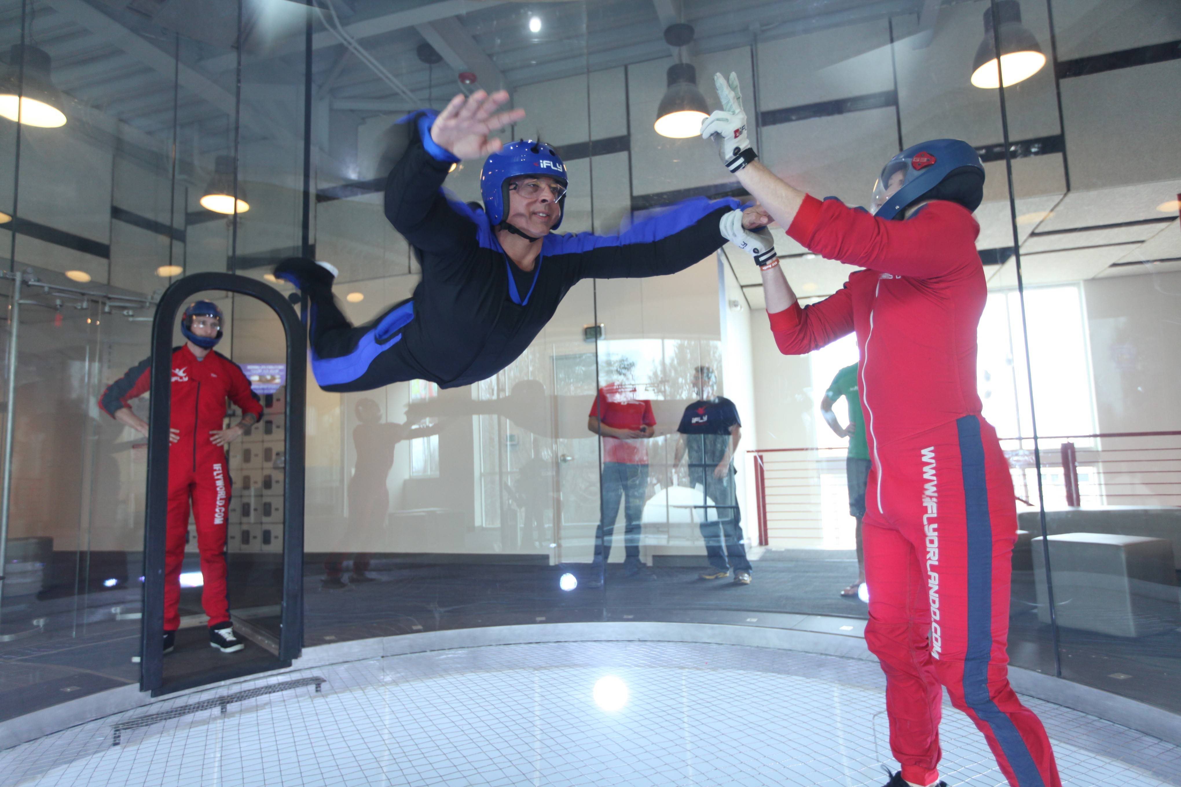 A fan system blowing through a flight chamber creates the conditions for indoor sky diving, and instructors at iFly facilities like the one likely coming to Naperville help people start flying from the ground up.