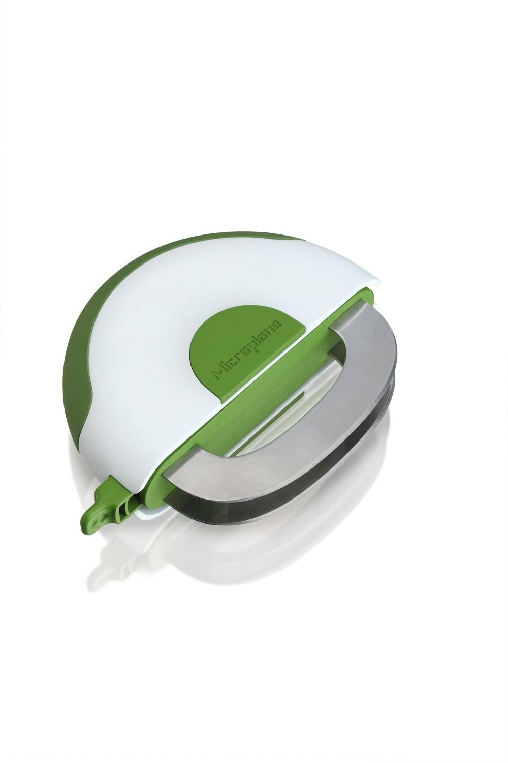 I've become a huge fan of chopped salads lately (who wants to mess with a knife on your first course) so Microplane's retractable, dual-blade Herb & Salad Chopper is on my wish list. With it's rocking action, it excels in chopping greens, radishes, onions, herbs and even tomatoes and nuts. $13.95. Available in June.