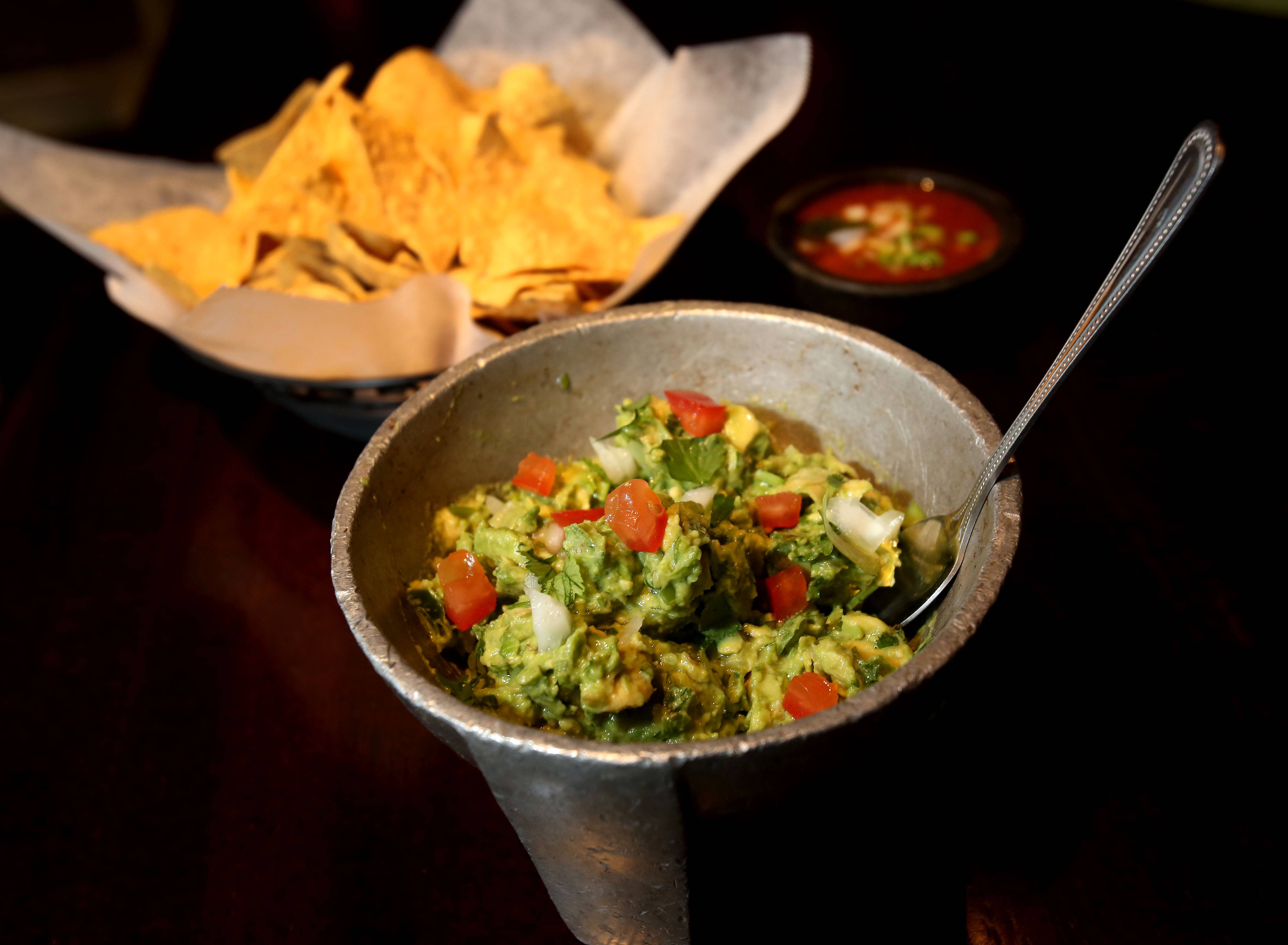 House guacamole is made to order at Zapatista restaurant in Naperville.