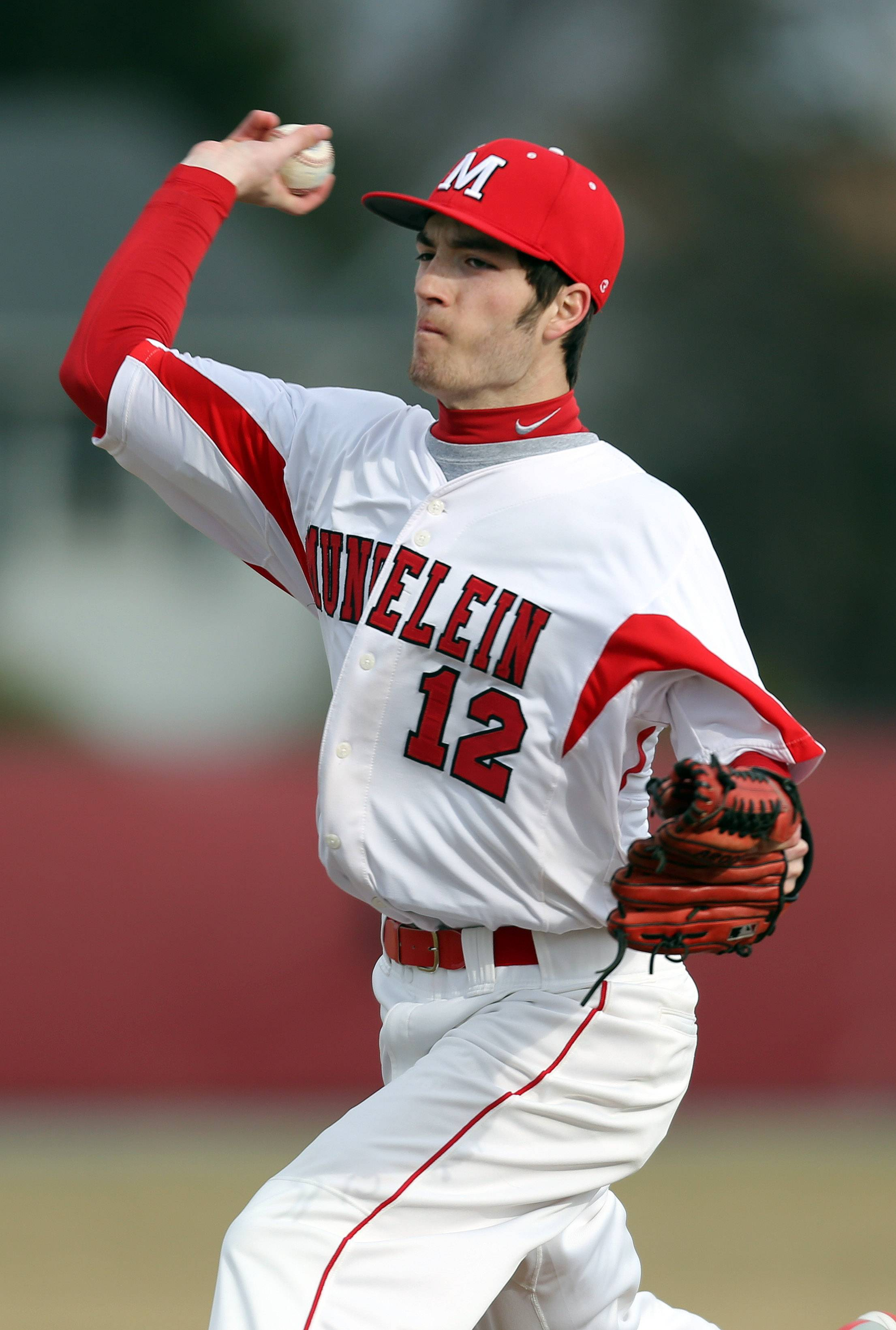 Mundelein's Dillon O'Donoghue pitches against Wheeling on Wednesday at Mundelein.
