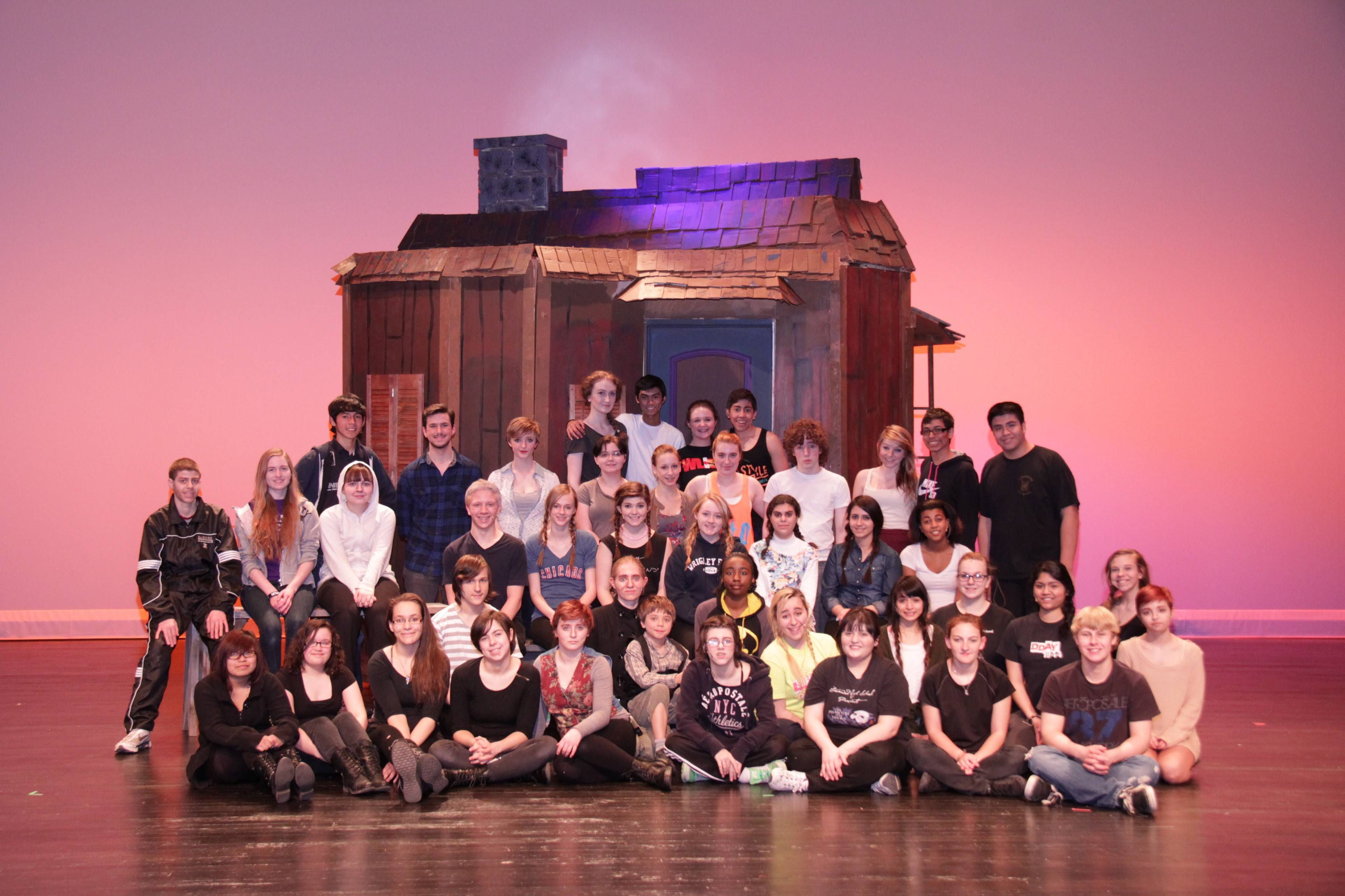 "This is the cast of the Streamwood High School spring musical ""Fiddler on the Roof."""