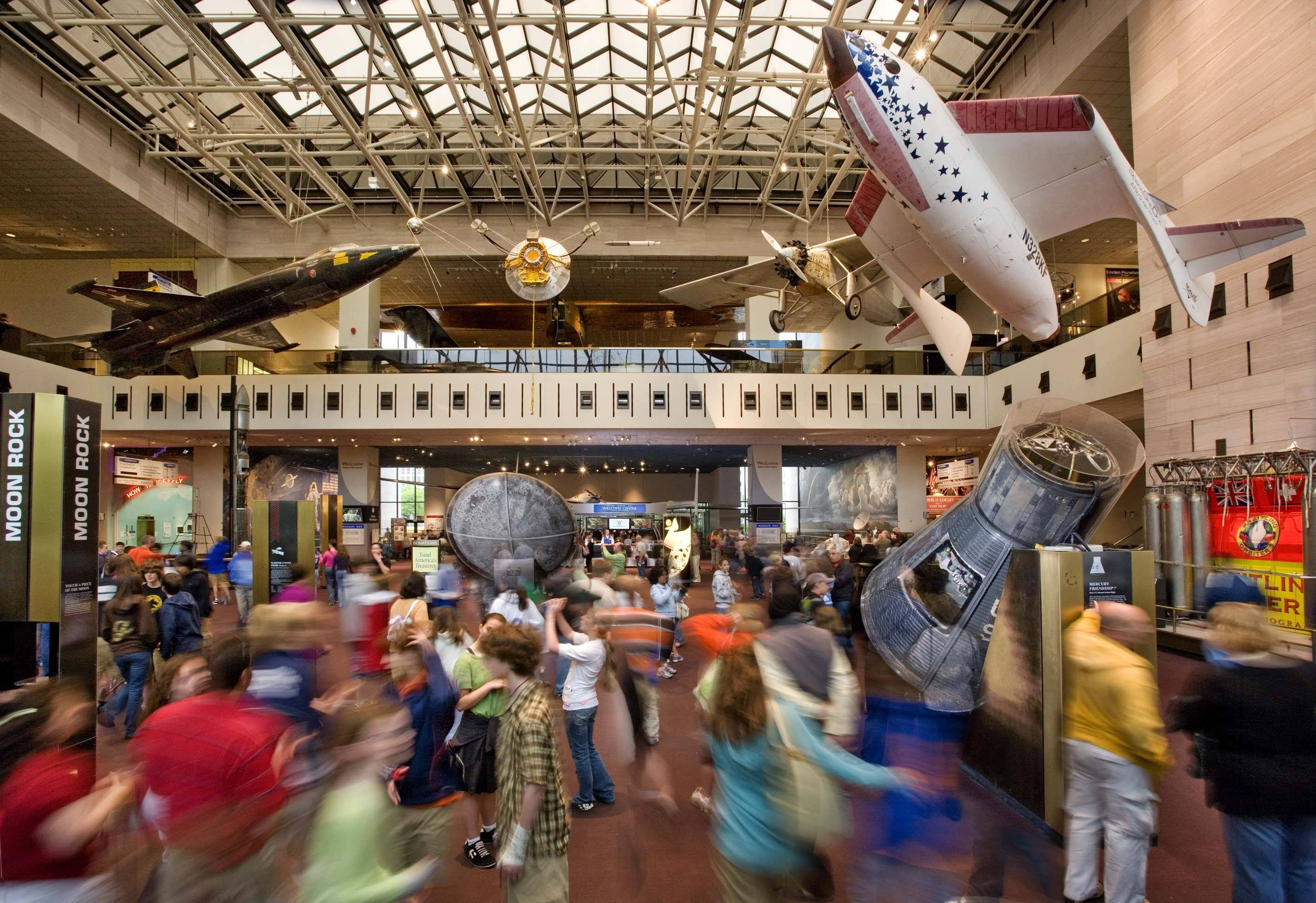 This is the Milestones of Flight Gallery, the main hall of the Smithsonian's National Air and Space Museum, in Washington. For the first time since its 1976 opening, the Smithsonian's National Air and Space Museum plans to overhaul its central exhibition area.