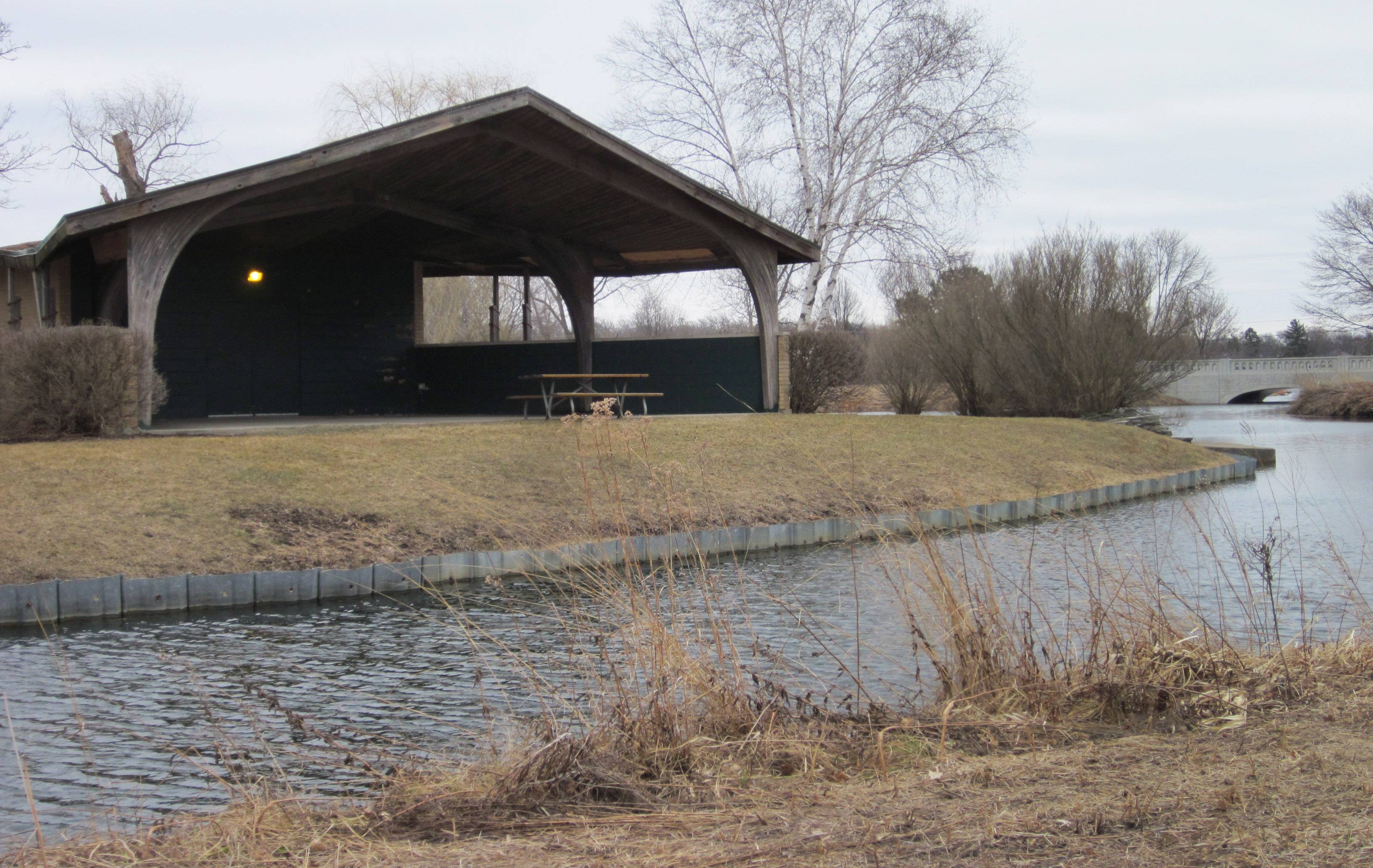The band shell at Butler Lake Park in Libertyville was built in the 1960s.