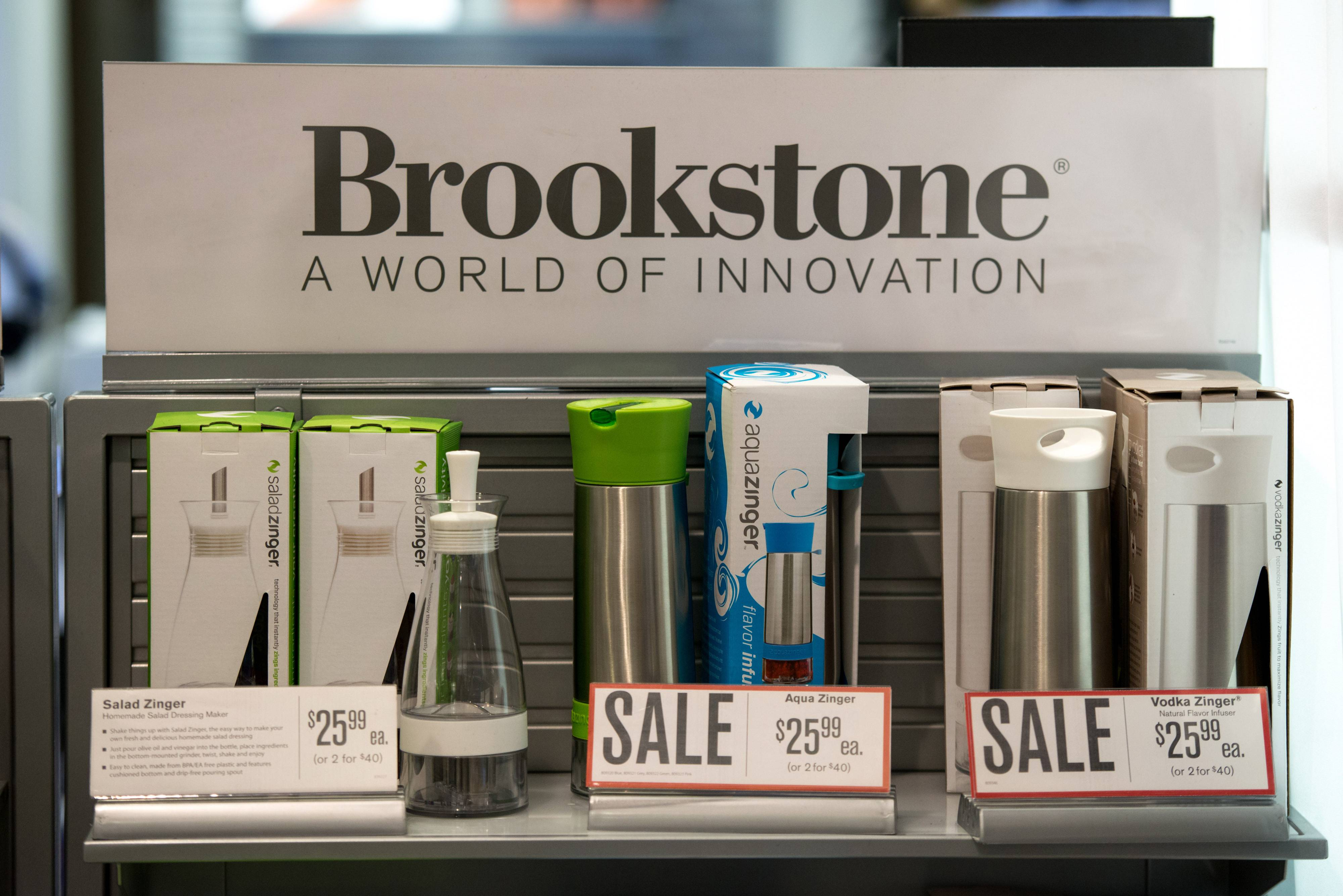Items for sale in a Brookstone Inc. store in the concourse of Rockefeller Center in New York, U.S.