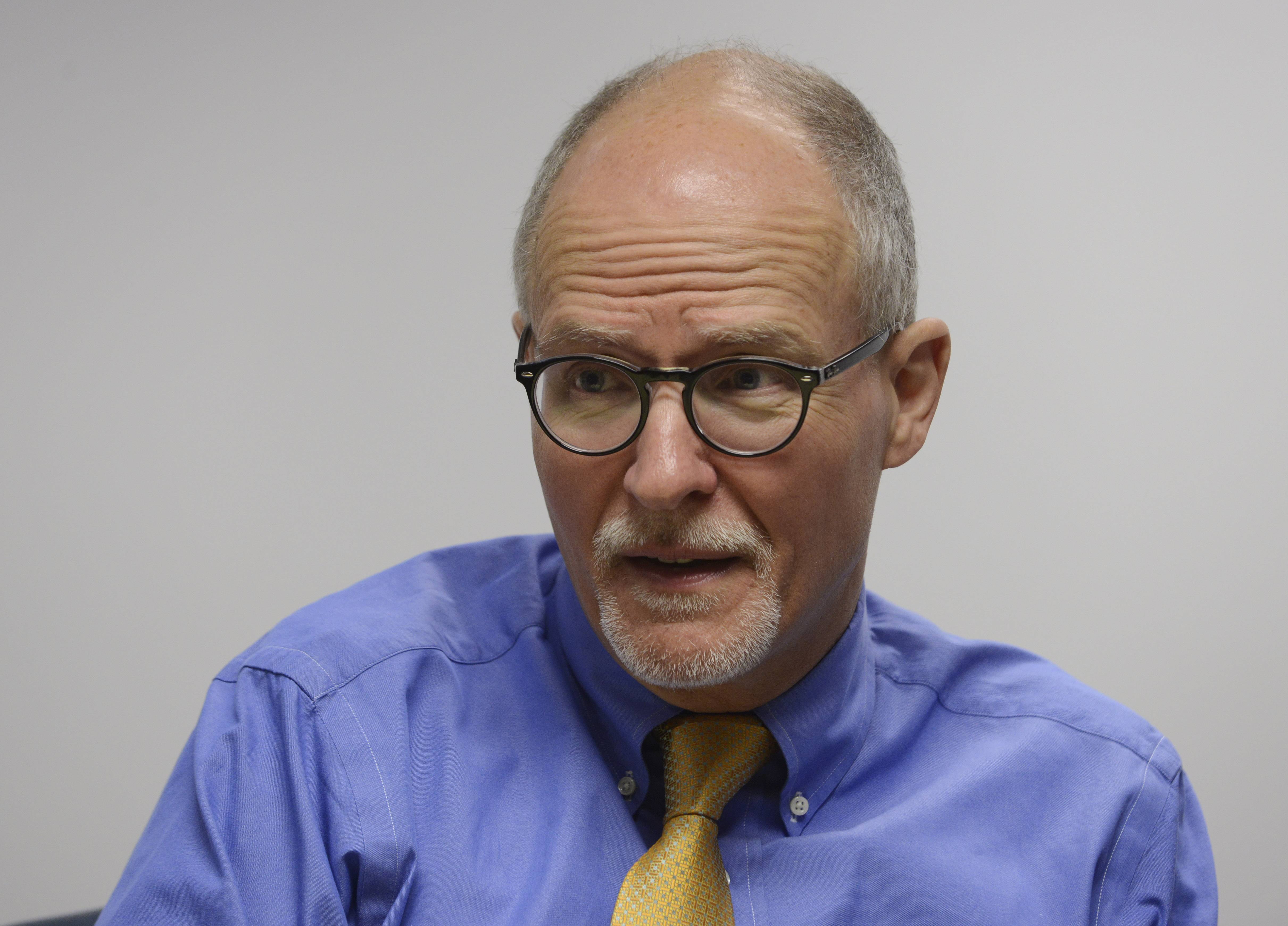 Paul Vallas, Democratic candidate for lieutenant governor, told the Daily Herald editorial board he doesn't support having local schools pay more for teachers' pensions.
