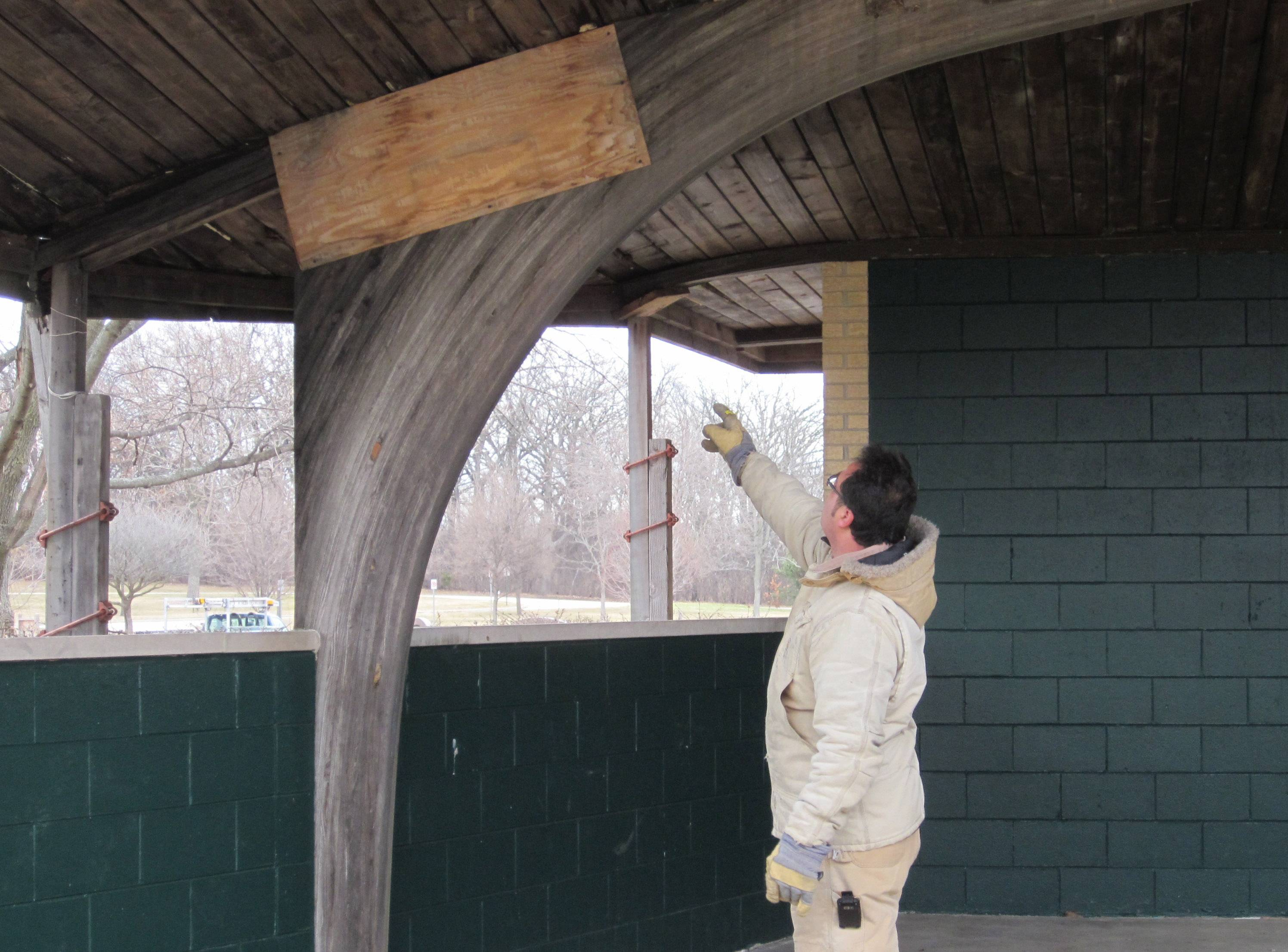 The band shell at Butler Lake Park in Libertyville has fallen into disrepair and will be torn down.