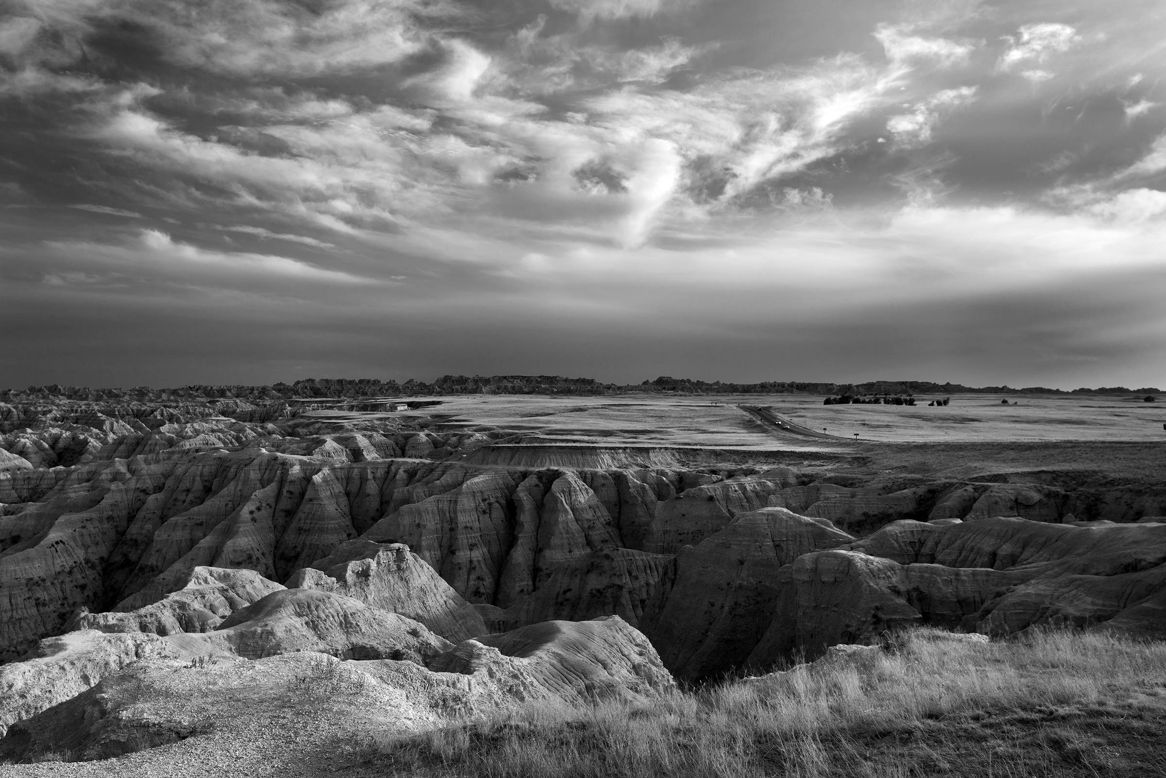 Richard Ryndak's Badlands, 2013, a black-and-white digital photograph, was the winner of the 2013 CLC Student Art Competition Purchase Award.