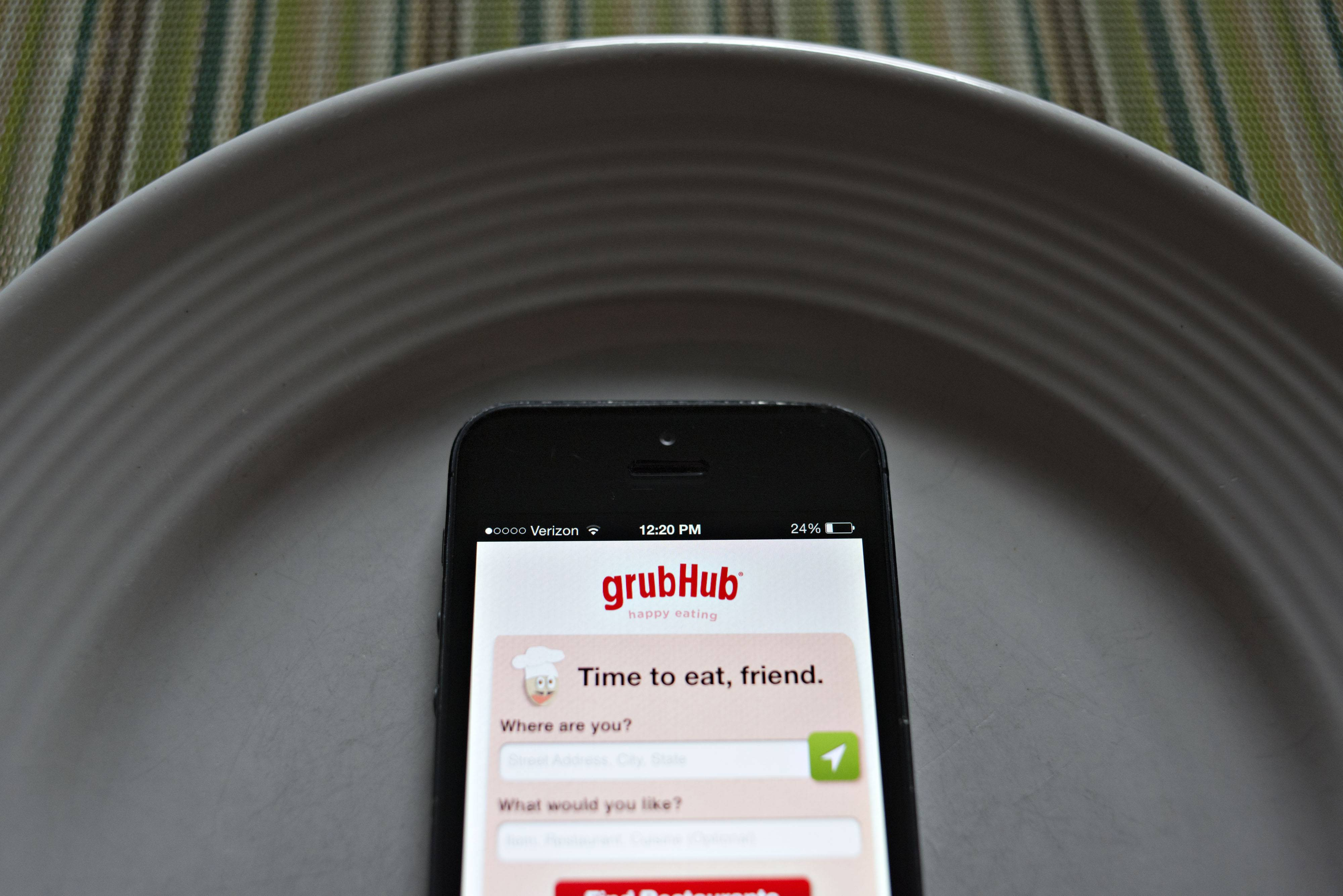 Chicago-based GrubHub Inc. makes money by taking a percentage of each online food order.