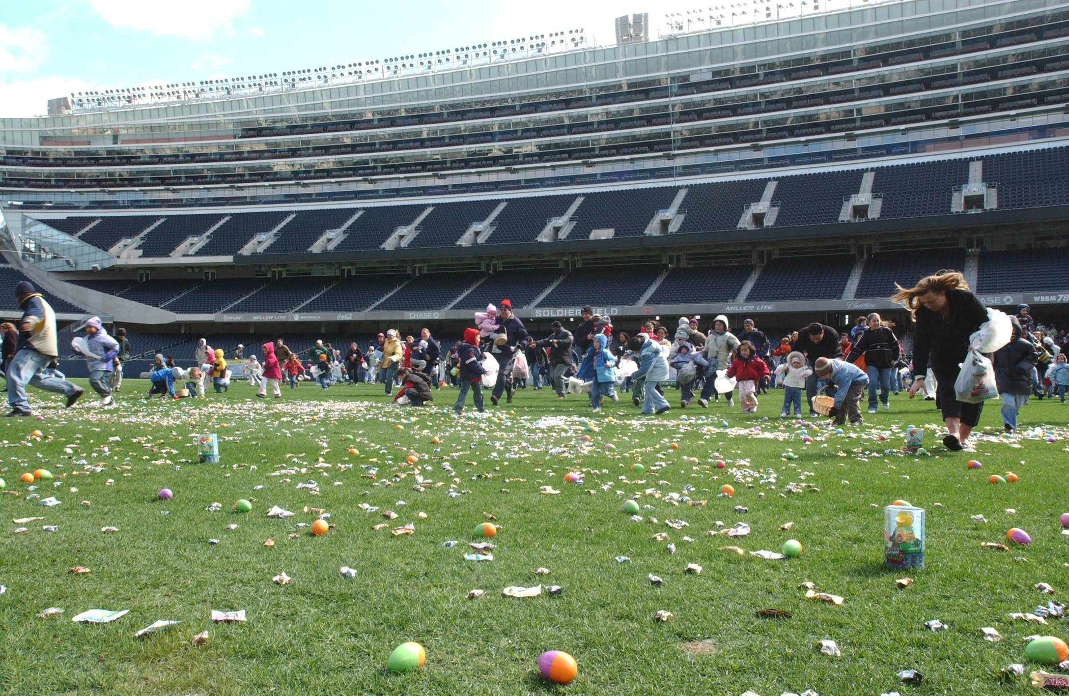 Score plenty of candy at the Spring Egg-stravaganza at Chicago's Soldier Field.