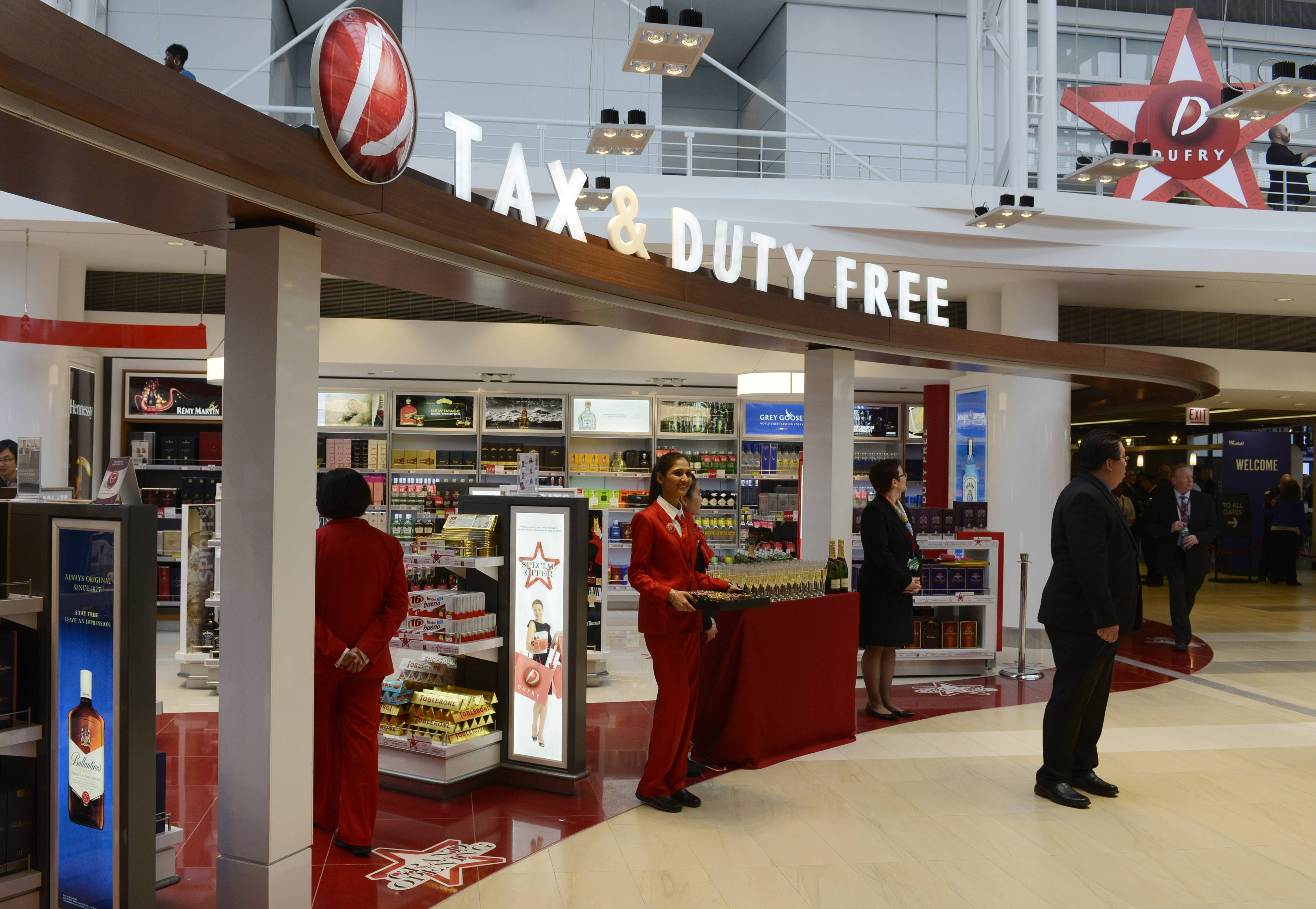 Twenty-four new shops are located past the security area of International Terminal 5 at O'Hare International Airport.