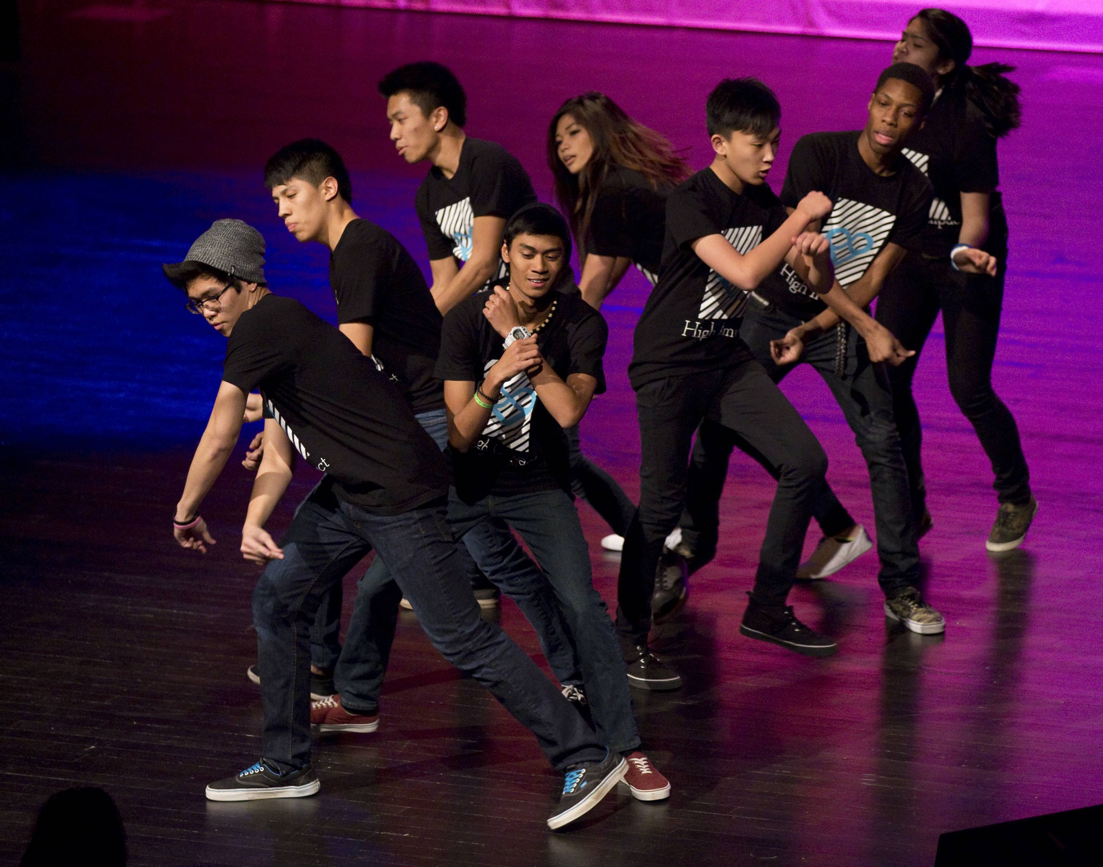 "The dance group High Impact performs at the Streamwood High School talent contest ""So You Think You've Talent?"" High Impact will advance to TalentFest at the Hemmens on Tuesday, April 15."