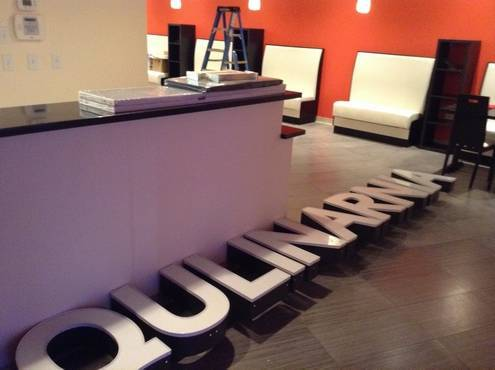 Finishing touches are underway at the new Qulinarnia restaurant, expected to open next week in Mount Prospect.