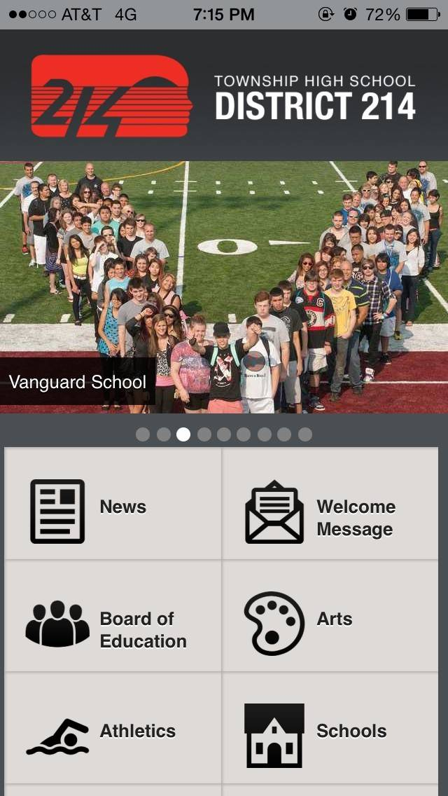 The District 214 mobile app.