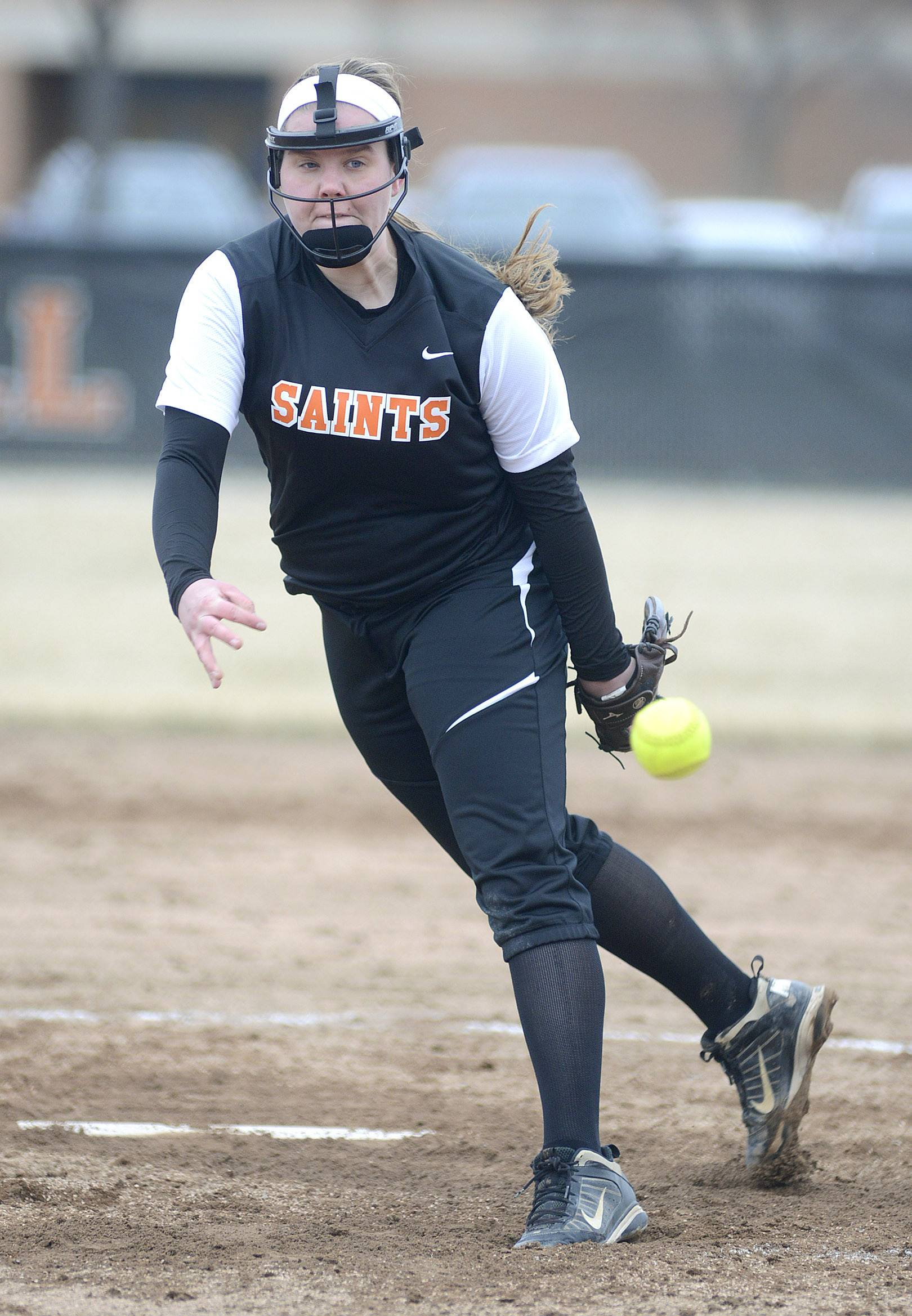 St. Charles East's Haley Beno pitches to West Aurora on Friday, April 4. 20
