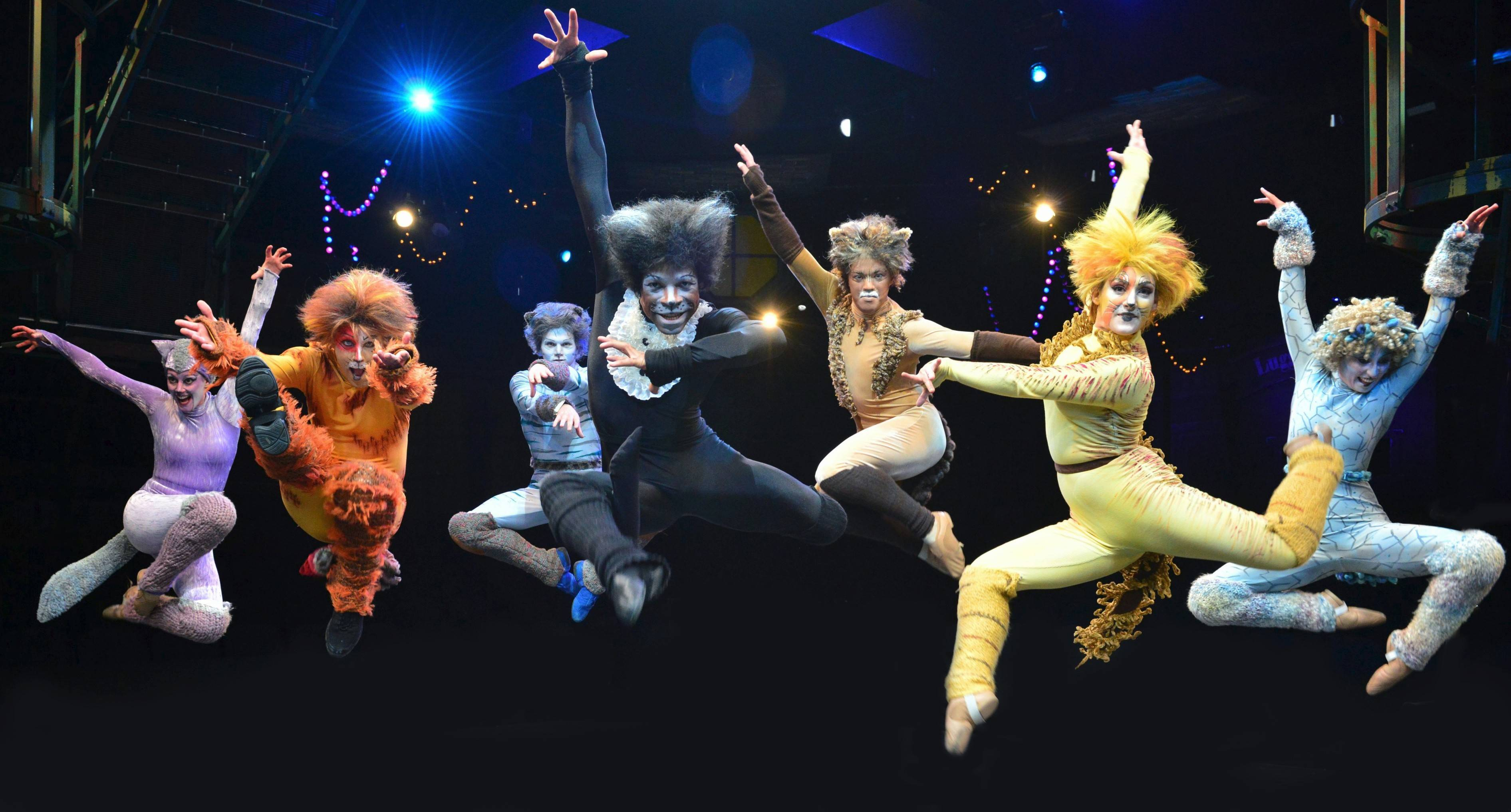 "Explosive choreography and exuberant performances define director/choreographer Marc Robin's revival of ""Cats"" for Marriott Theatre."