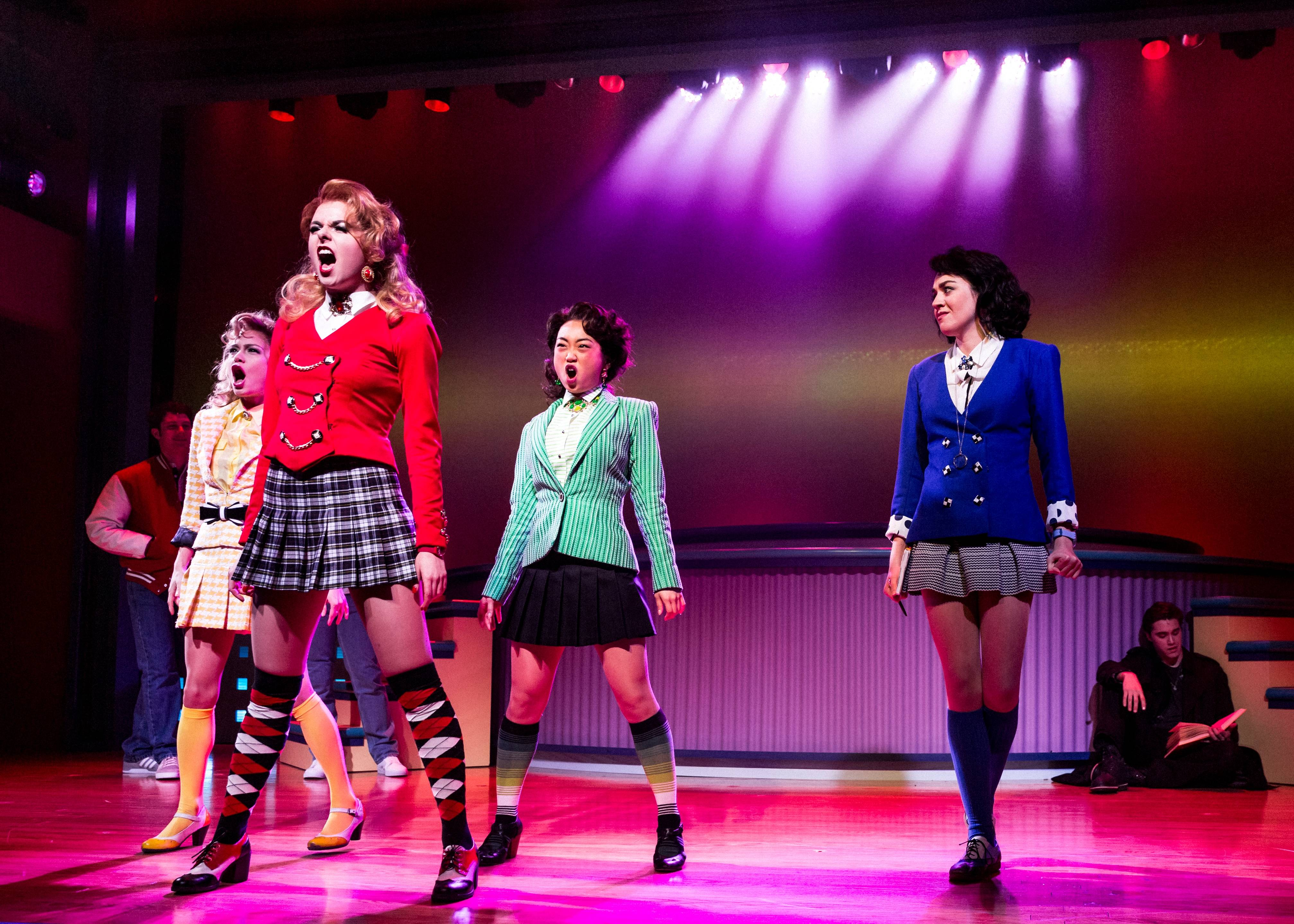 "The musical ""Heathers"" performing opened this week at New World Stages in New York."