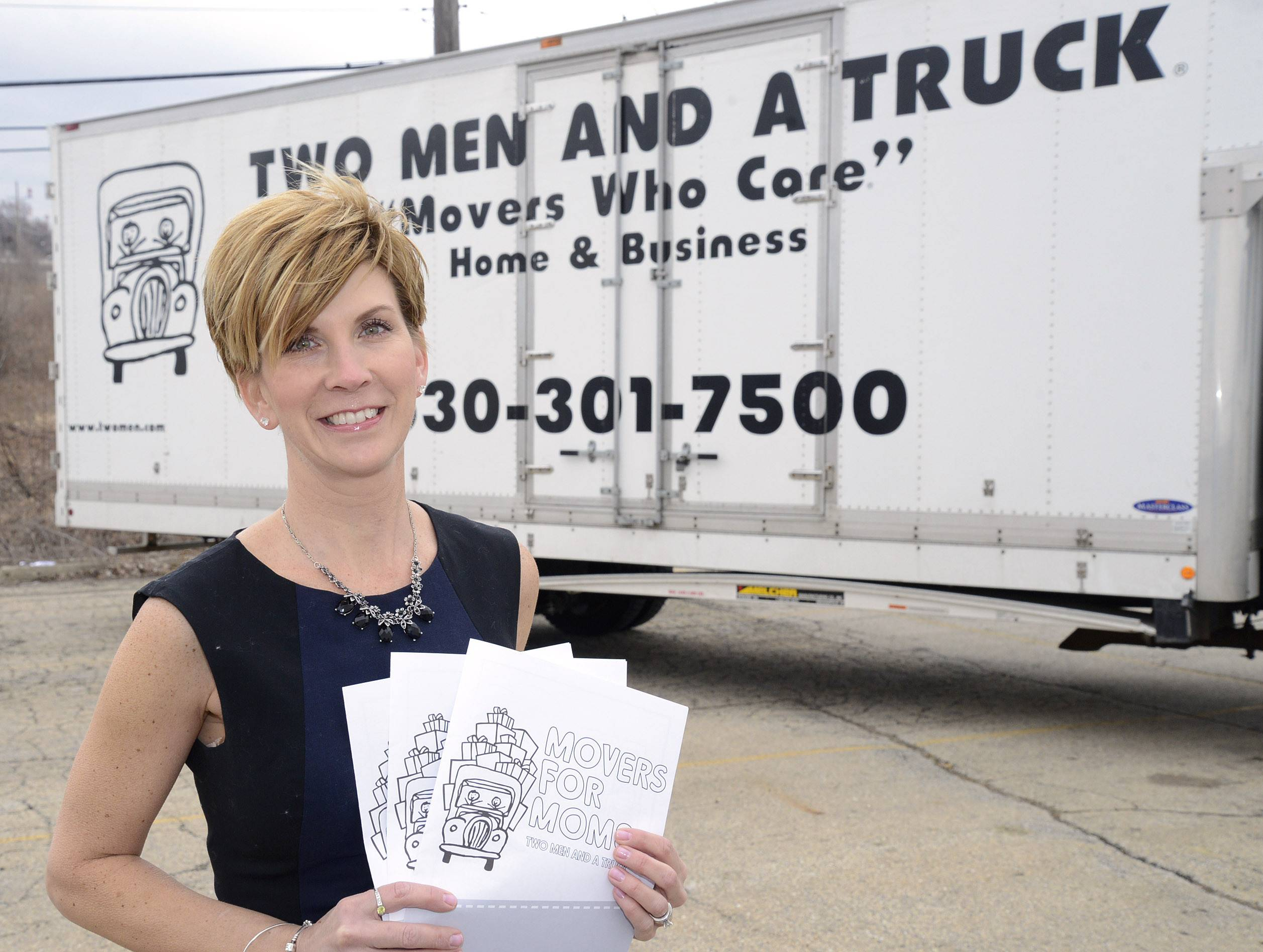 Wendy Petrusha, owner of Two Men And A Truck locations in North Aurora and Crystal Lake, is holding a donation drive for Mother's Day items for Lazarus House in St. Charles and Home of the Sparrow in McHenry. She has eight donation boxes in various locations to collect items.