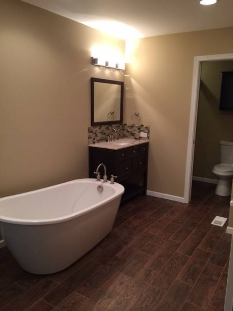Regency Home Remodeling recently completed this bathroom renovation.