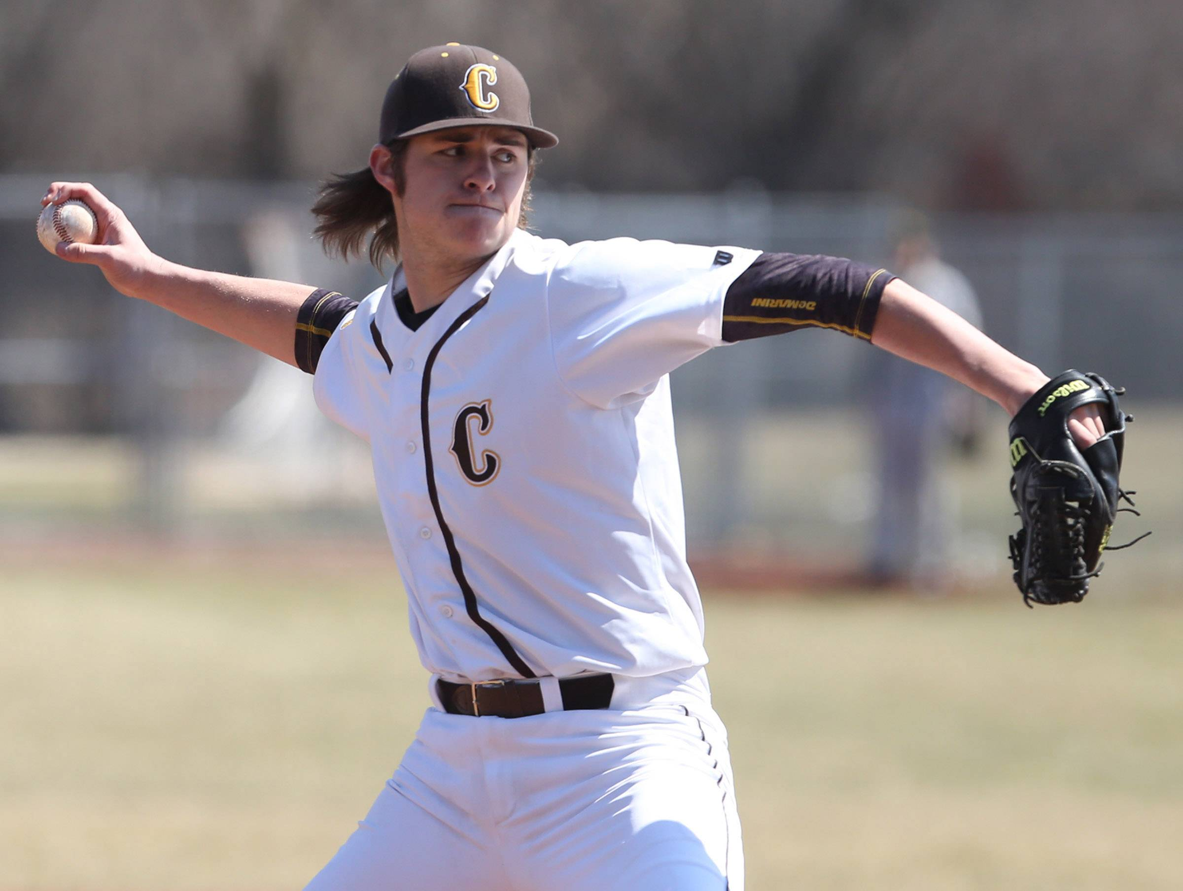 Carmel relief pitcher Dolton Wright faces Stevenson on Saturday in Mundelein.
