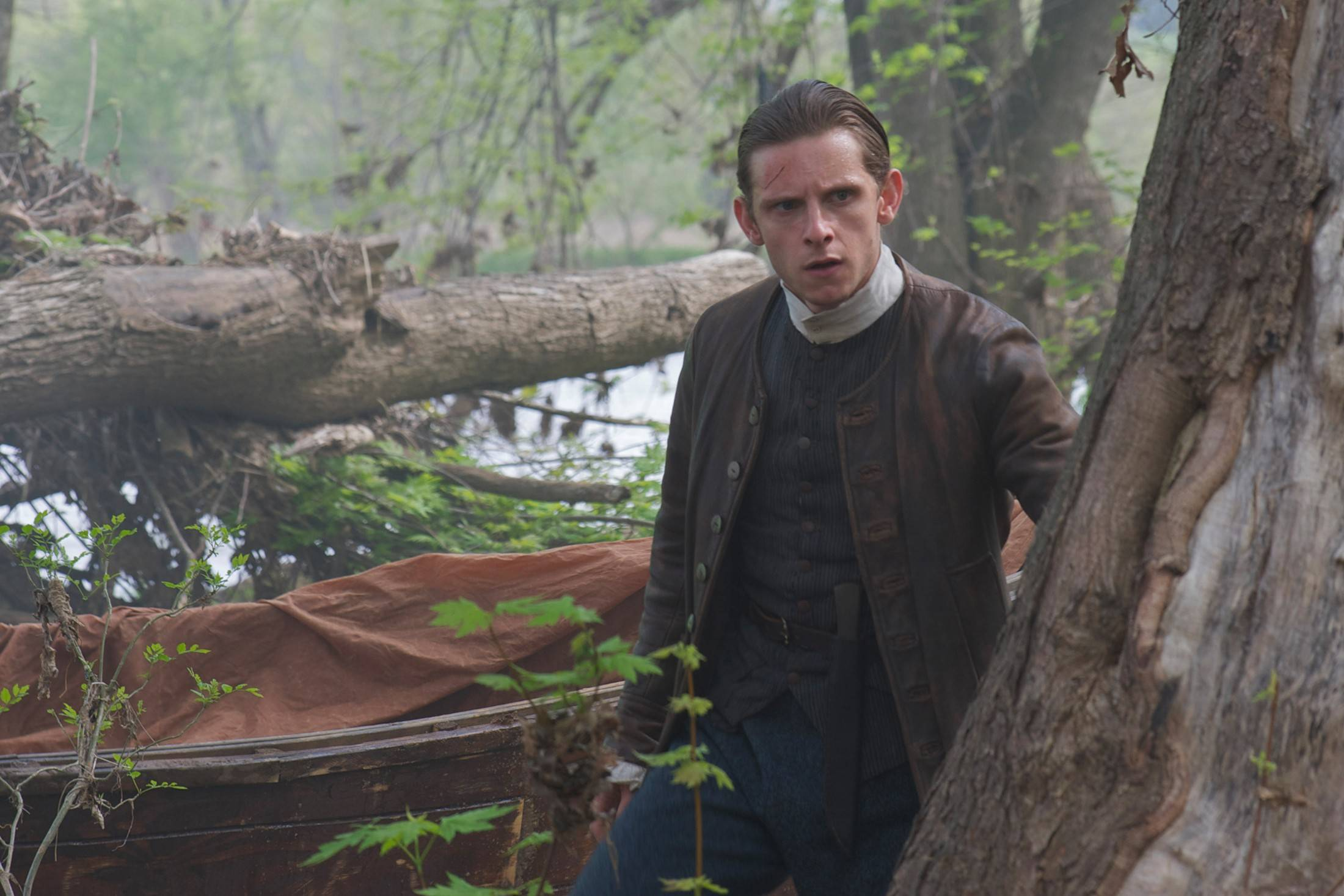 "Jamie Bell stars as a member of a Revolutionary War spy ring in AMC's new drama ""Turn."""
